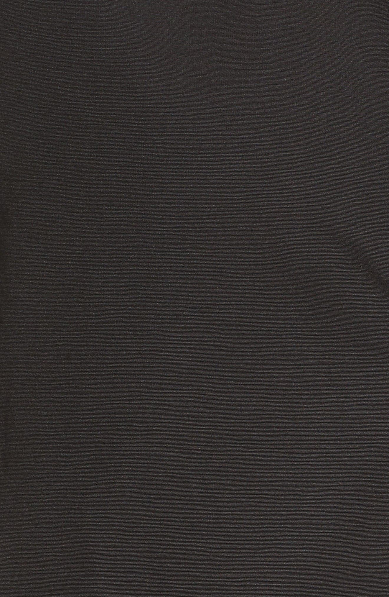Hooded Fly Front Stadium Jacket,                             Alternate thumbnail 5, color,                             Black