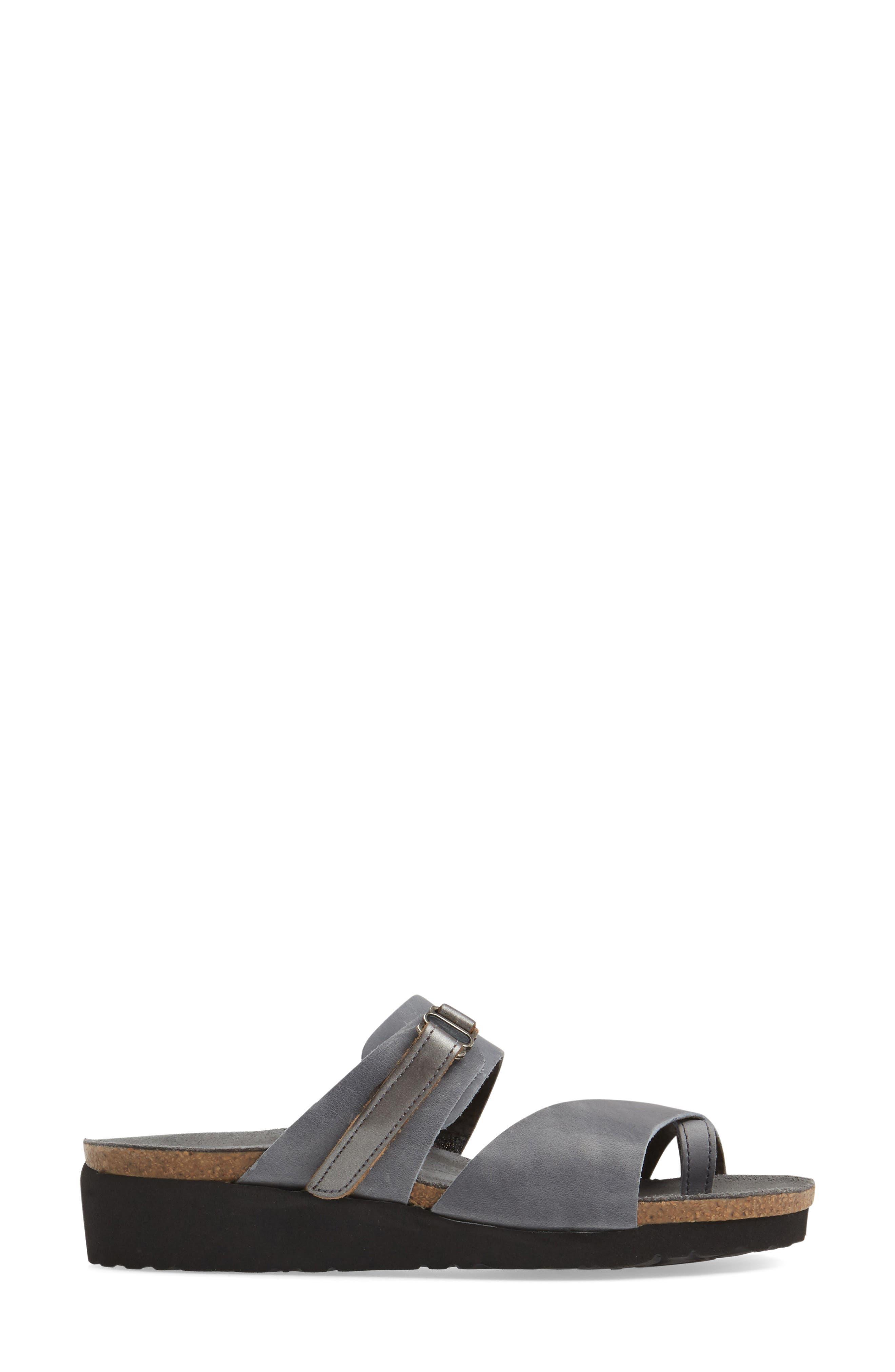 Jessica Sandal,                             Alternate thumbnail 3, color,                             Vintage Slate Leather