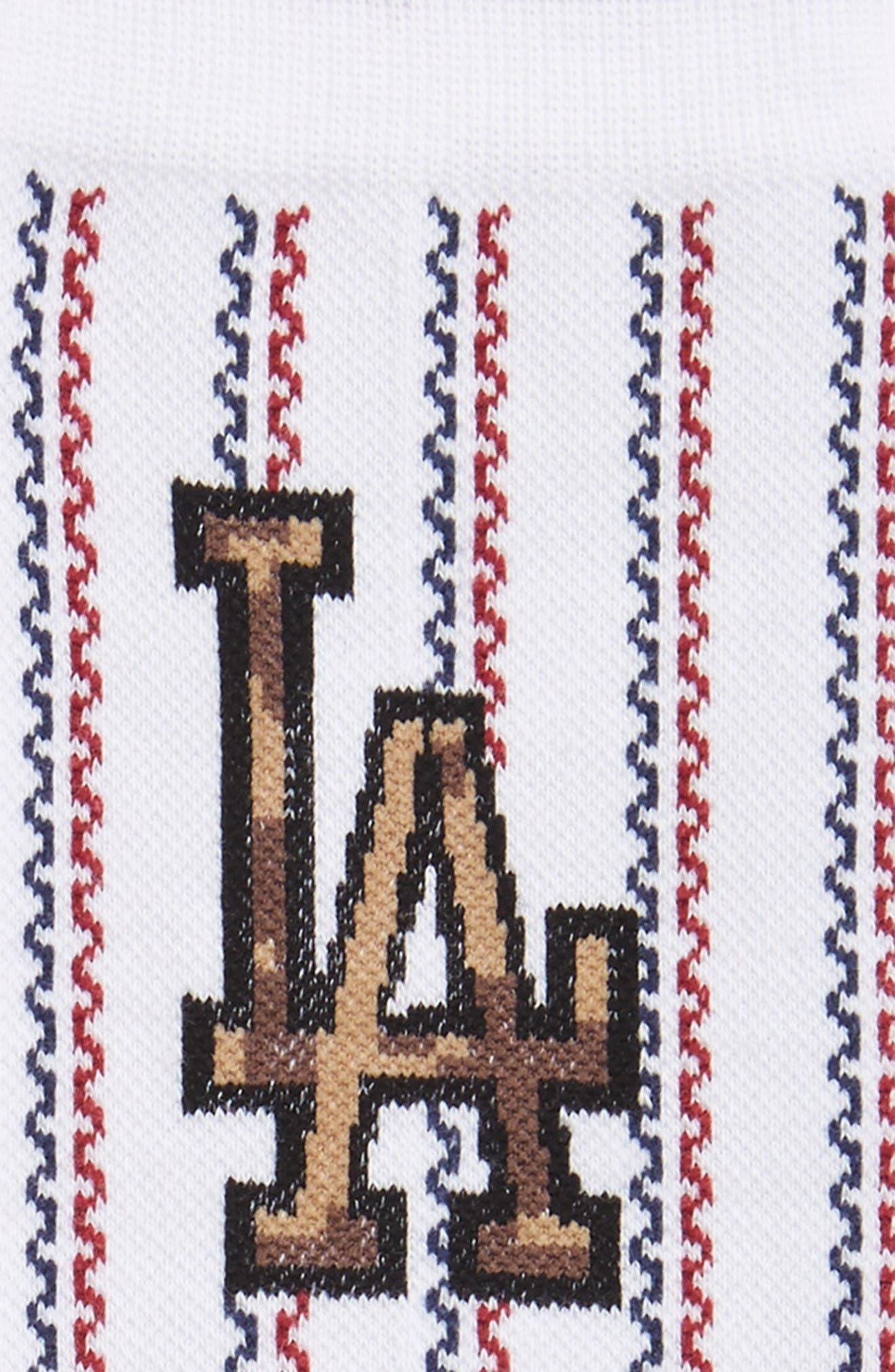 Sentry Dodgers Socks,                             Alternate thumbnail 2, color,                             White