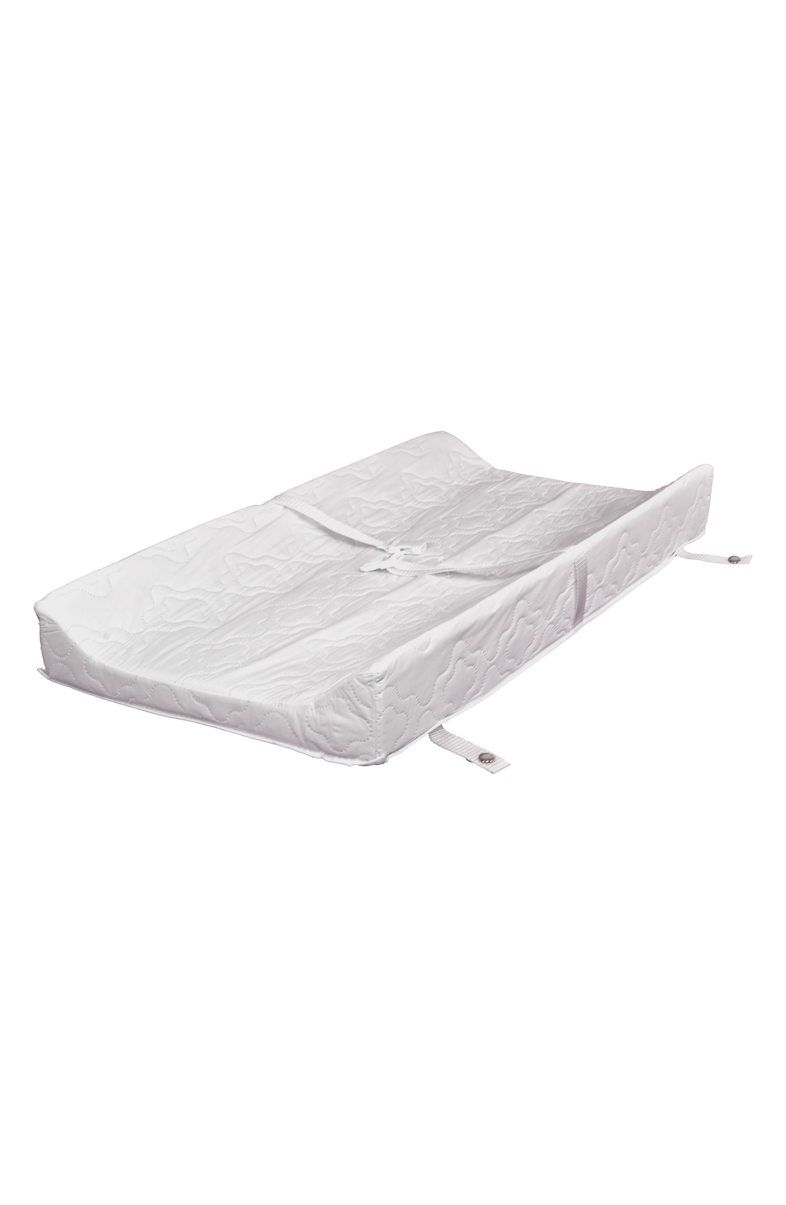Waterproof Contoured Changing Pad for babyletto Changers/Dressers,                             Main thumbnail 1, color,                             White