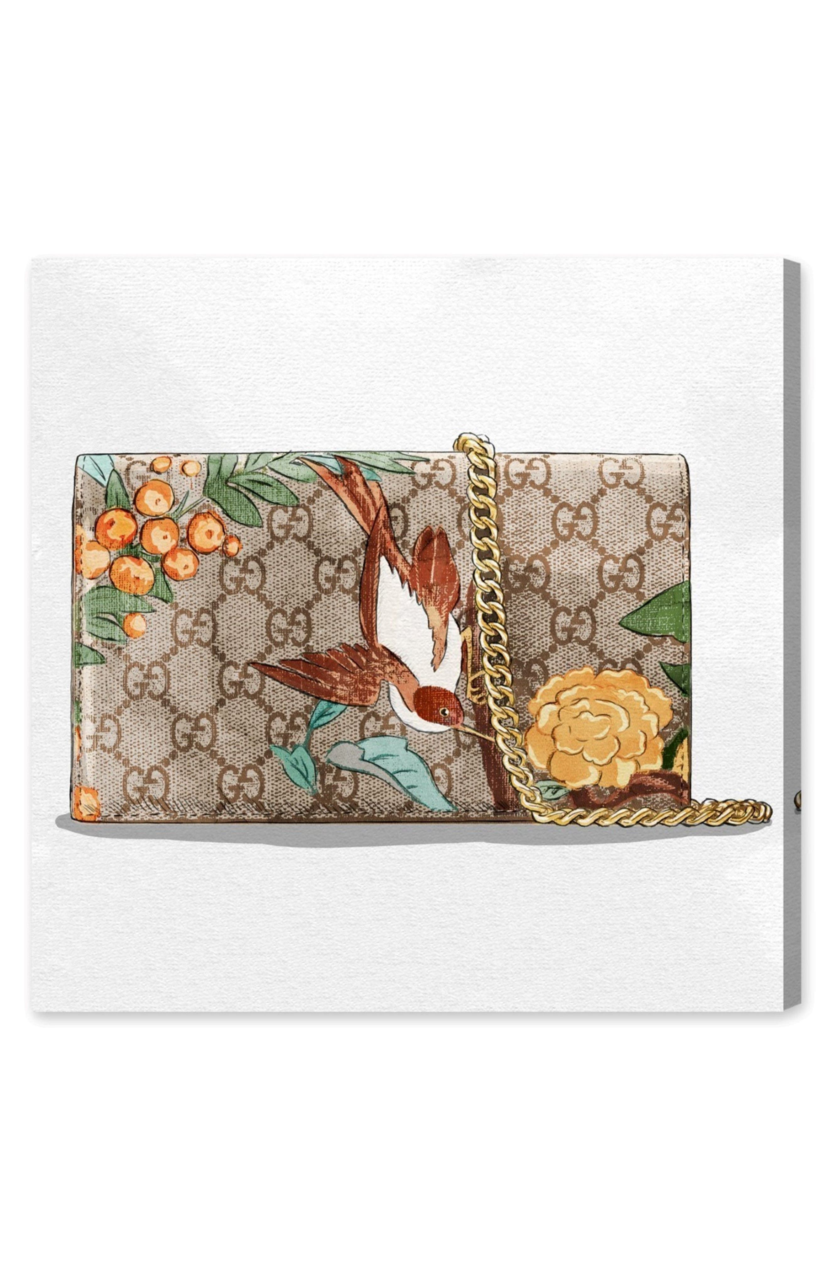 My Jungle Bag Canvas Wall Art,                         Main,                         color, White