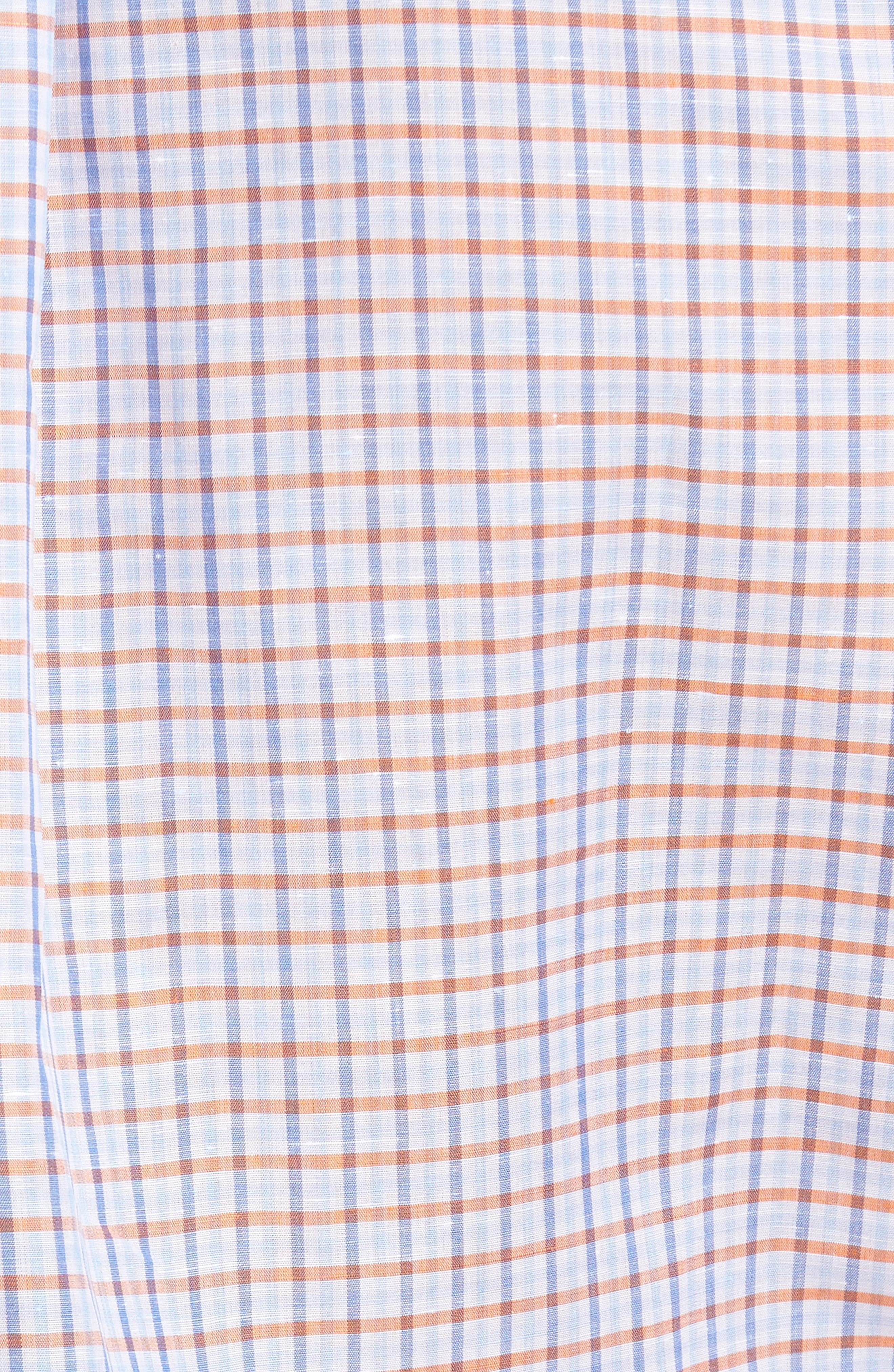 Estate Classic Fit Sport Shirt,                             Alternate thumbnail 5, color,                             Pumpkin
