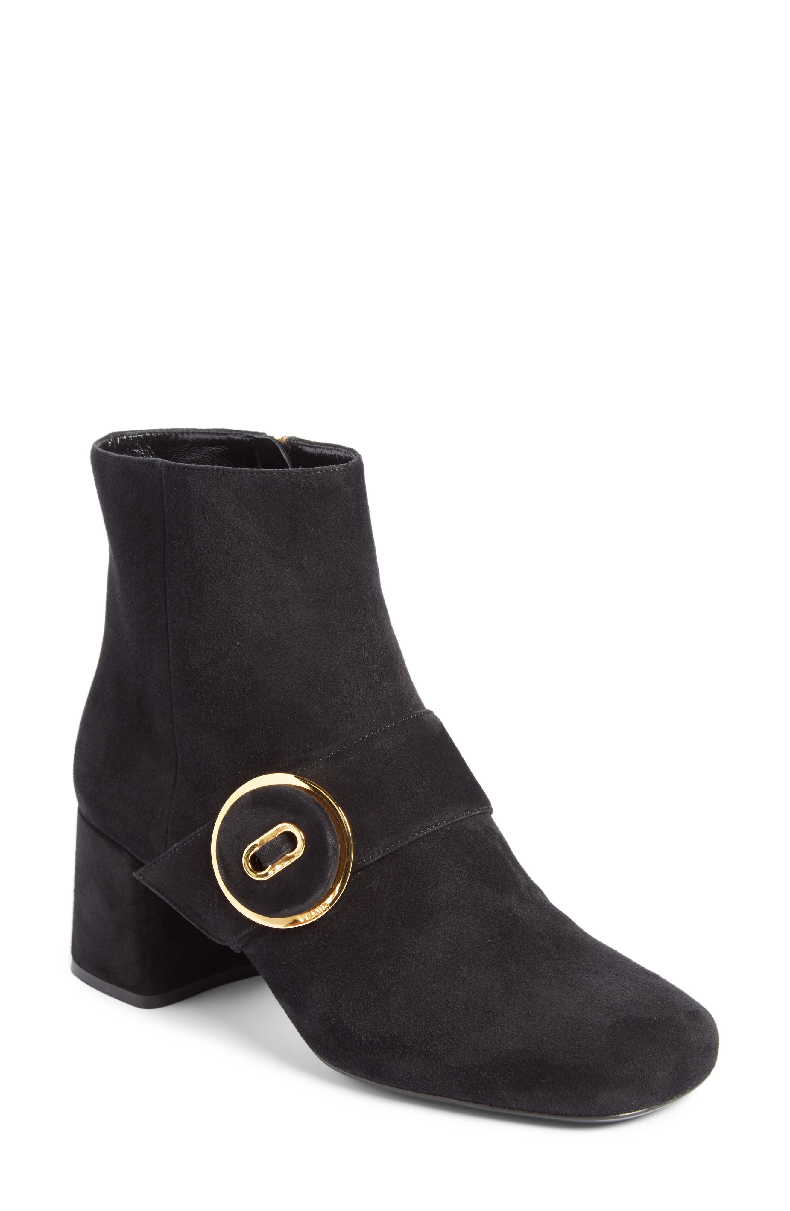 Alternate Image 1 Selected - Prada Button Bootie (Women)