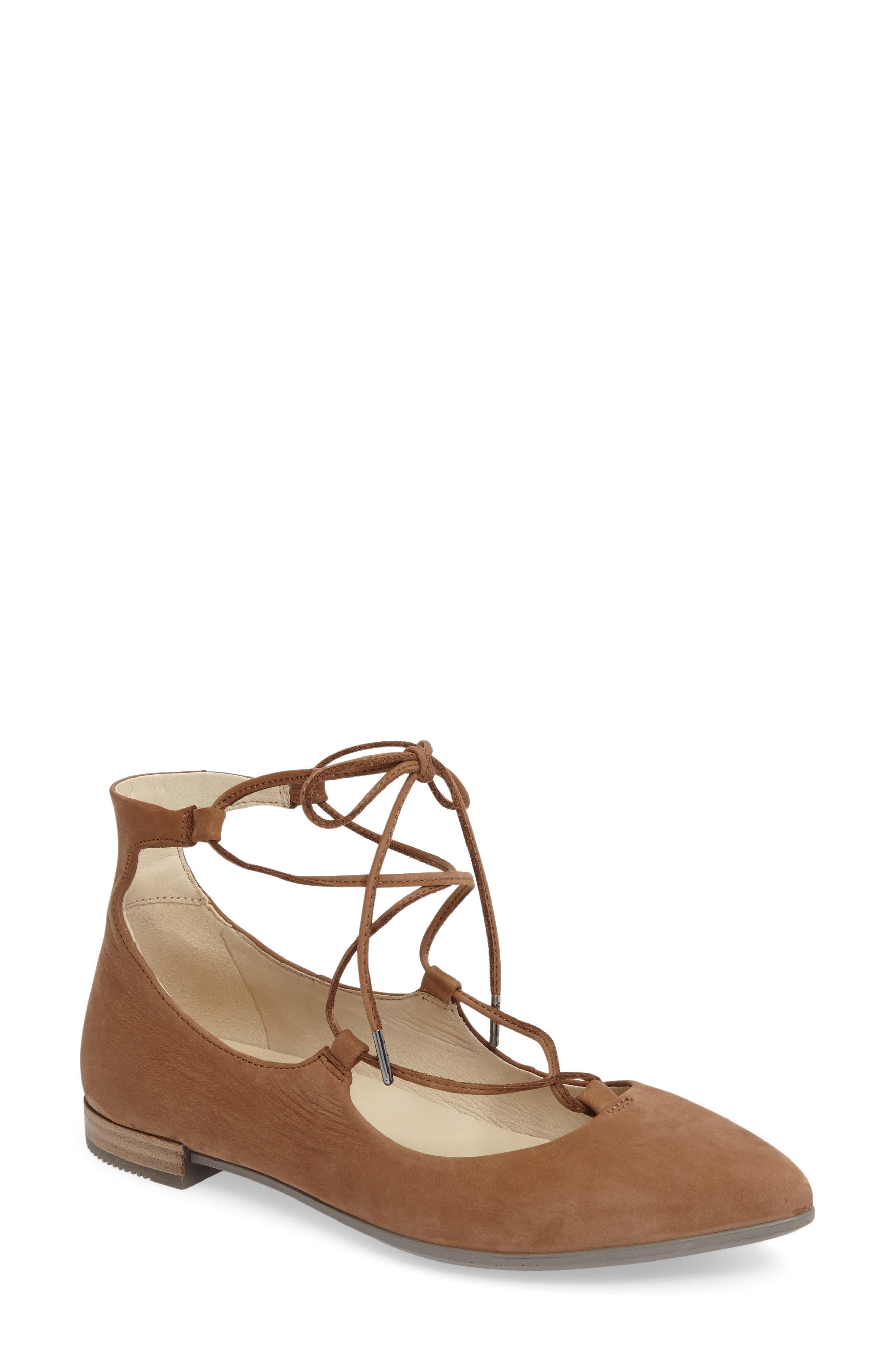 Alternate Image 1 Selected - ECCO Shape Ankle Wrap Ballet Flat (Women)