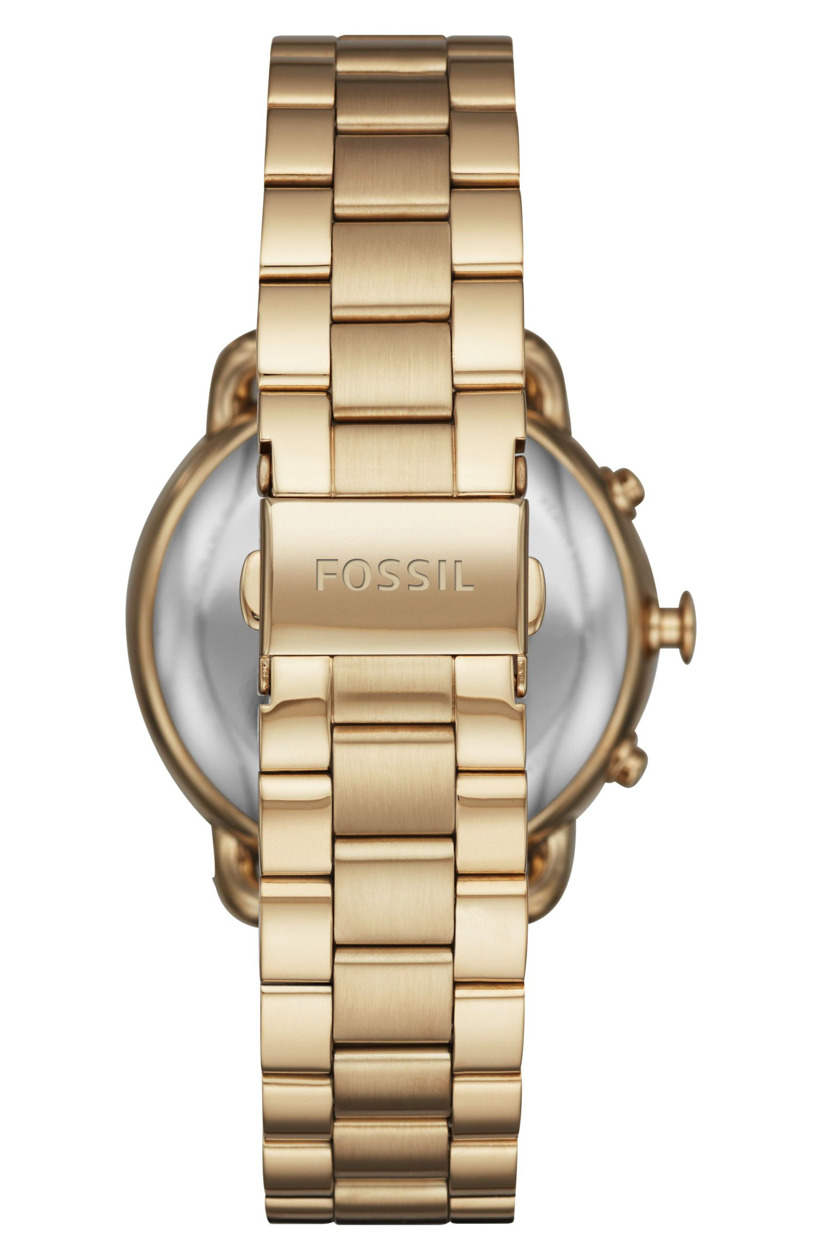 Tailor Smart Bracelet Watch, 40mm,                             Alternate thumbnail 2, color,                             Gold/ White
