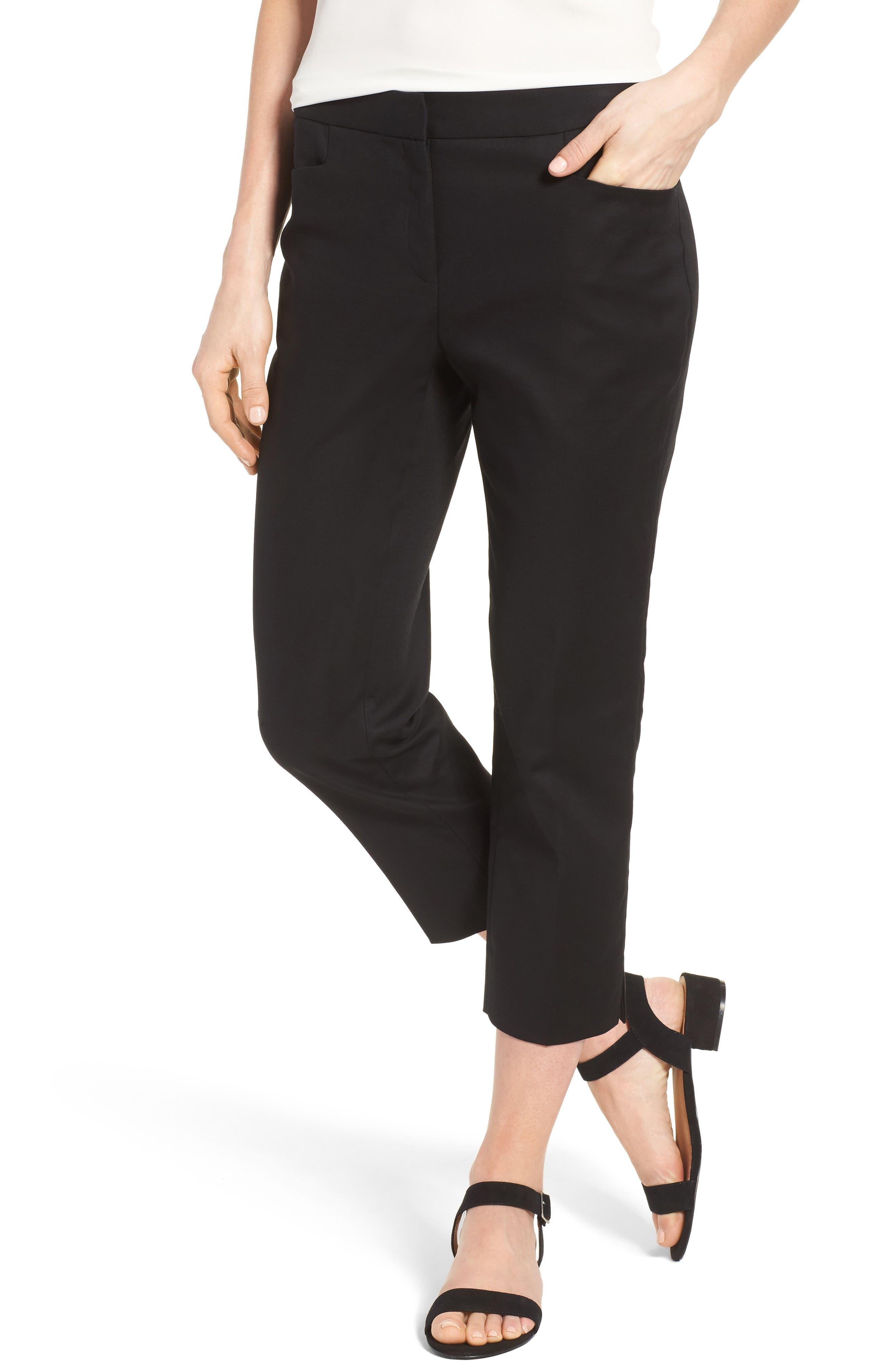 CeCe Crop Stretch Cotton Pants