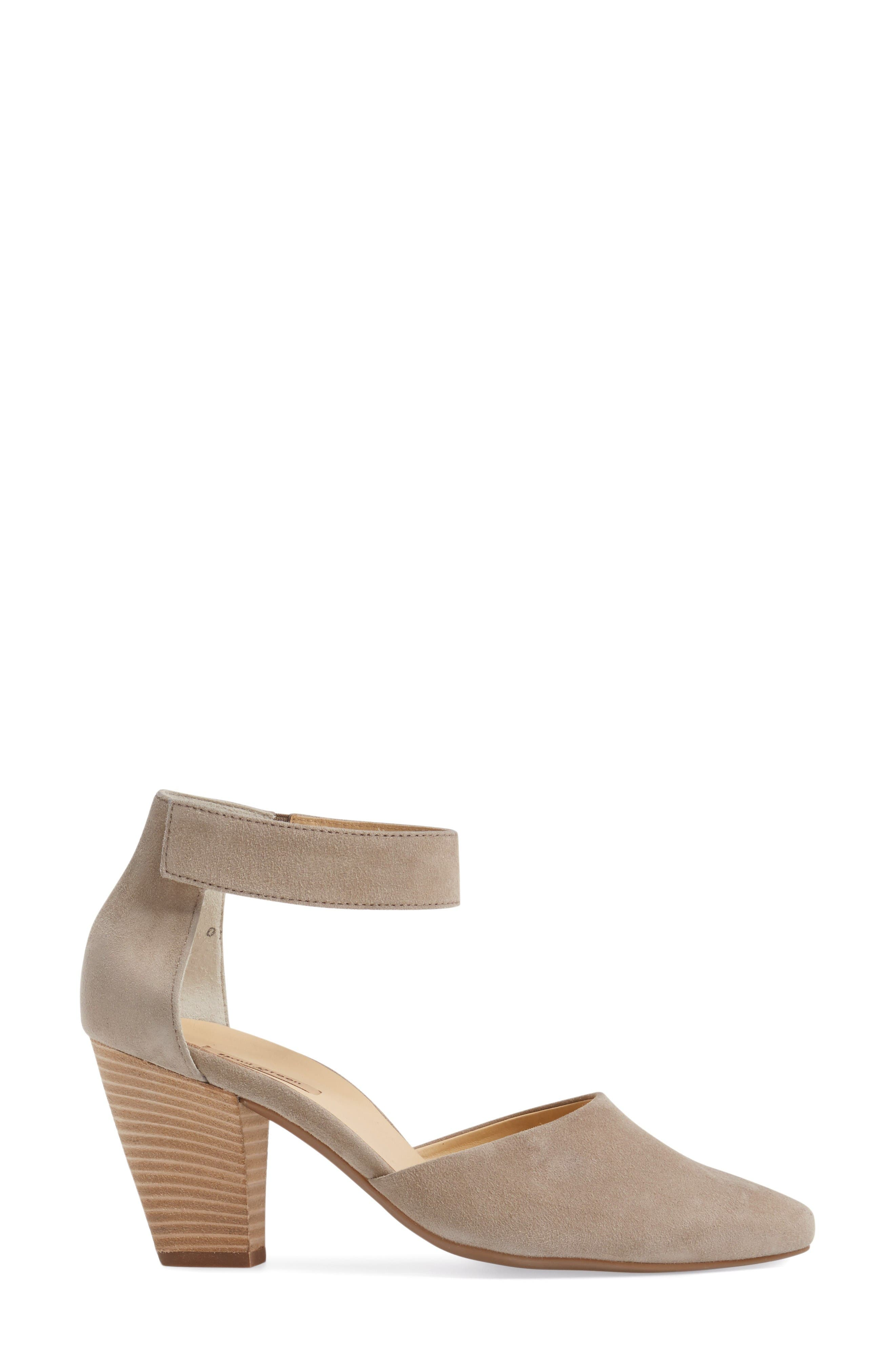 Noreen Pump,                             Alternate thumbnail 3, color,                             Taupe Suede