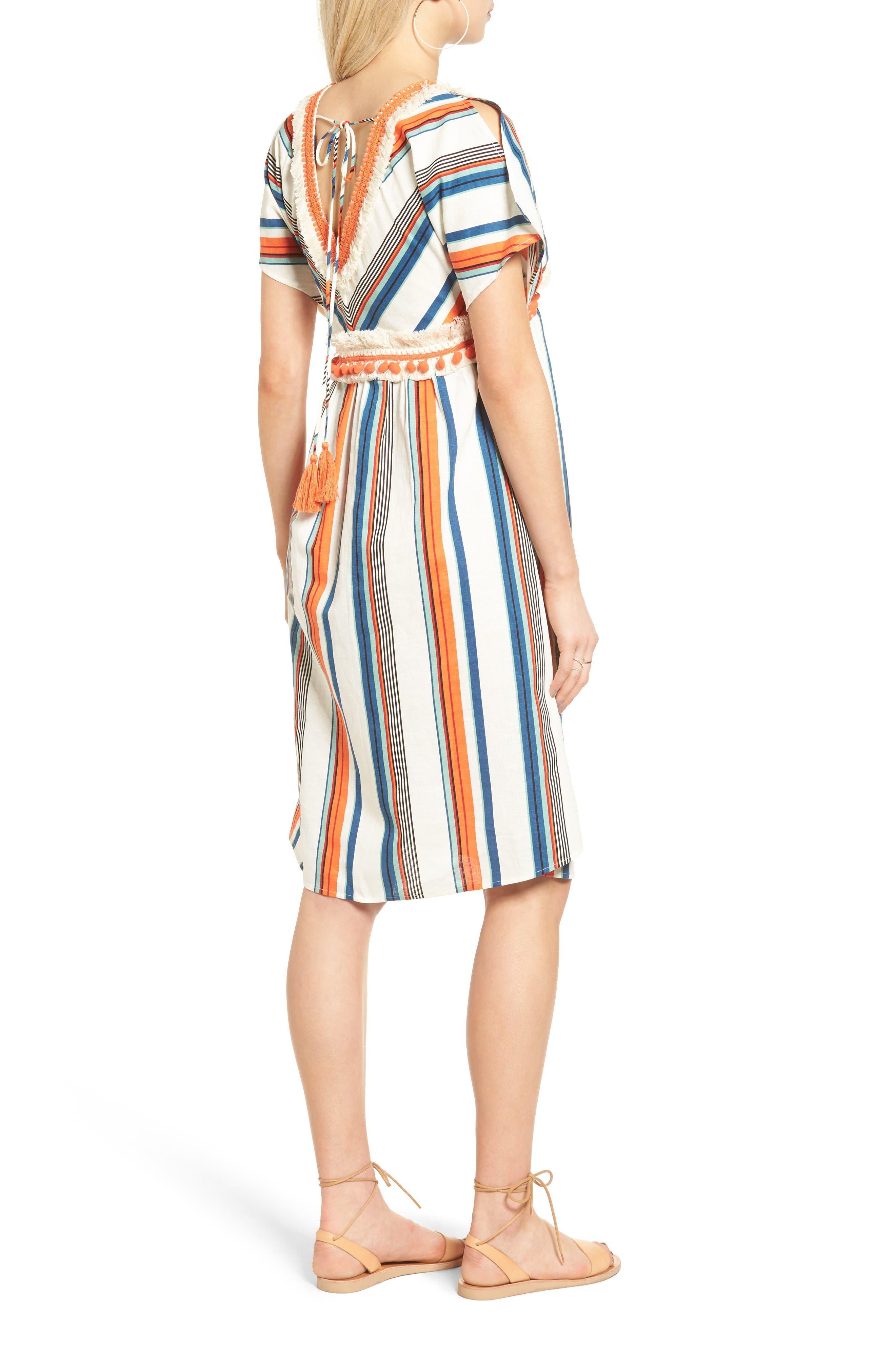Alternate Image 3  - MOON RIVER Stripe Linen & Cotton Dress