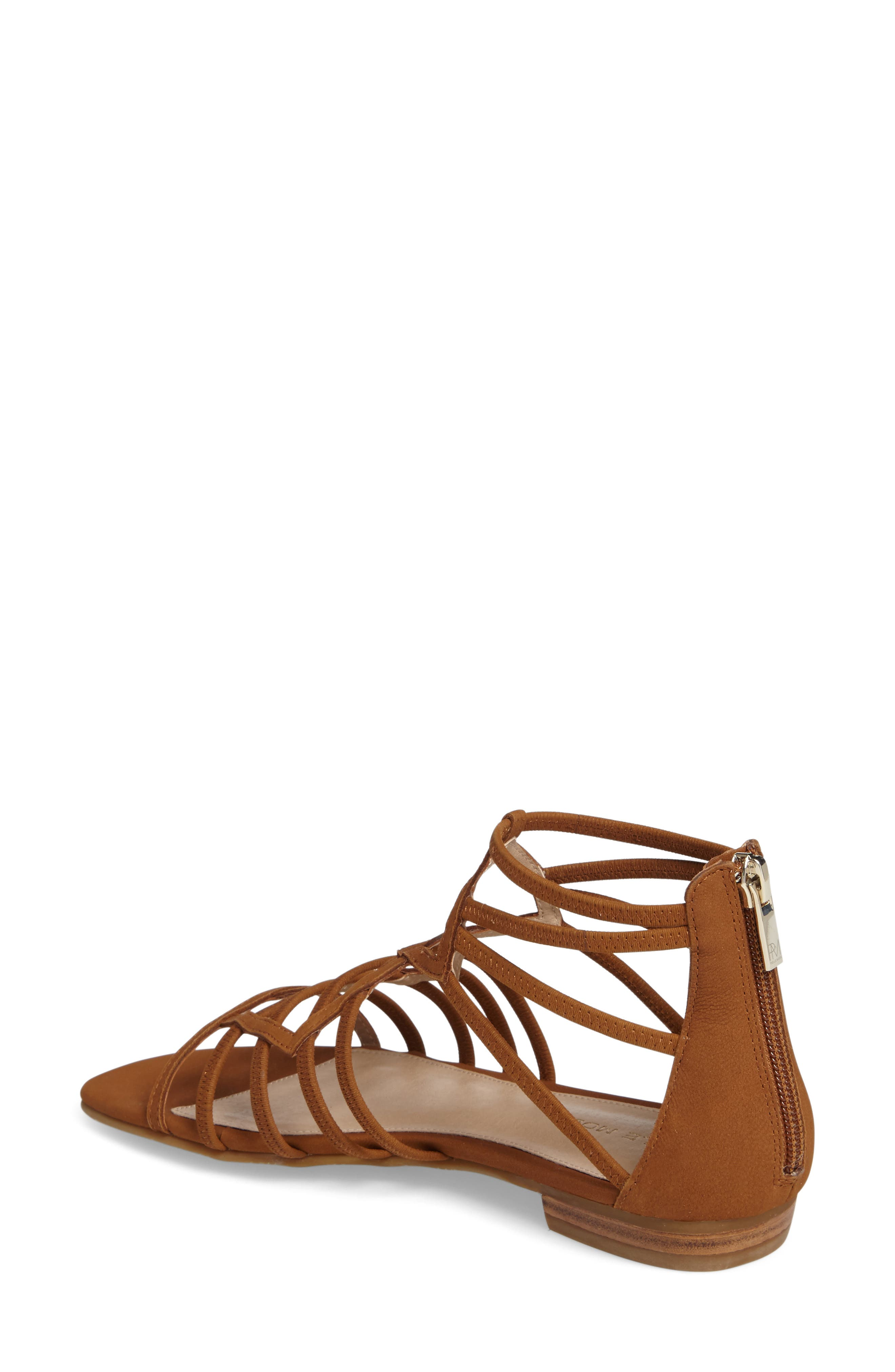 Brazil Strappy Sandal,                             Alternate thumbnail 2, color,                             Luggage Leather