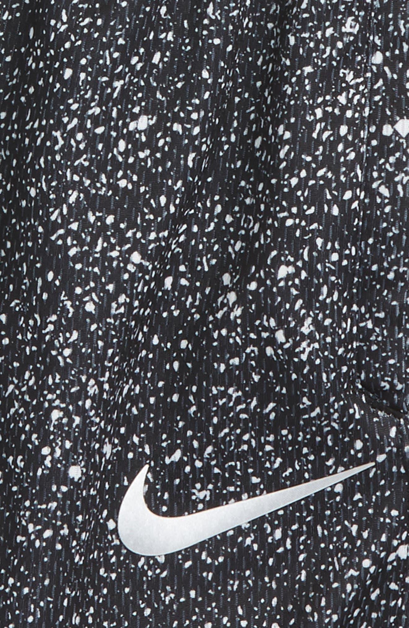 Elite Print Shorts,                             Alternate thumbnail 2, color,                             Black Denim