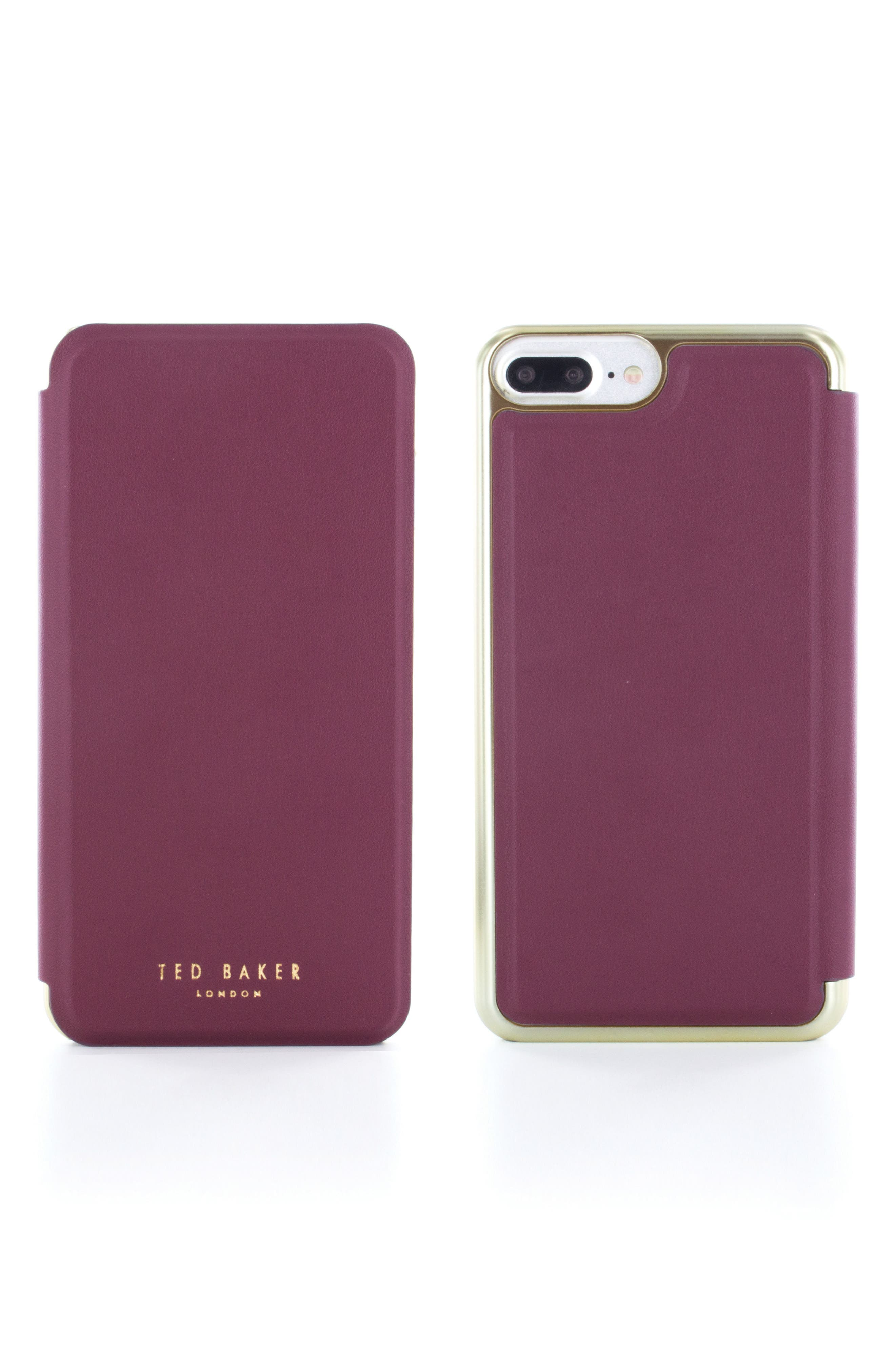 Shannon iPhone 6/6s/7/8 Plus Mirror Folio Case,                             Alternate thumbnail 2, color,                             Red