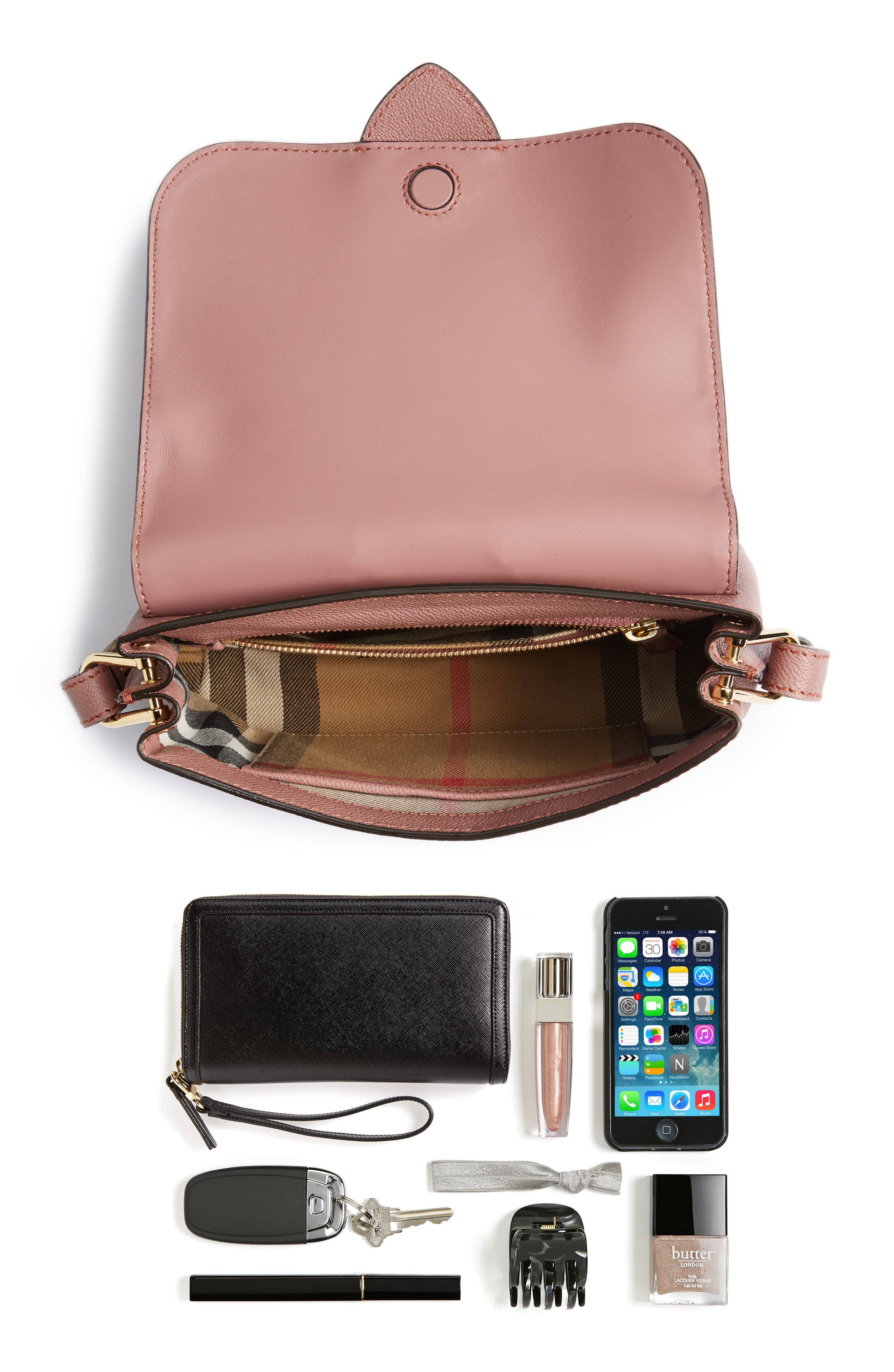Small Medley Leather Shoulder Bag,                             Alternate thumbnail 7, color,                             Dusty Pink