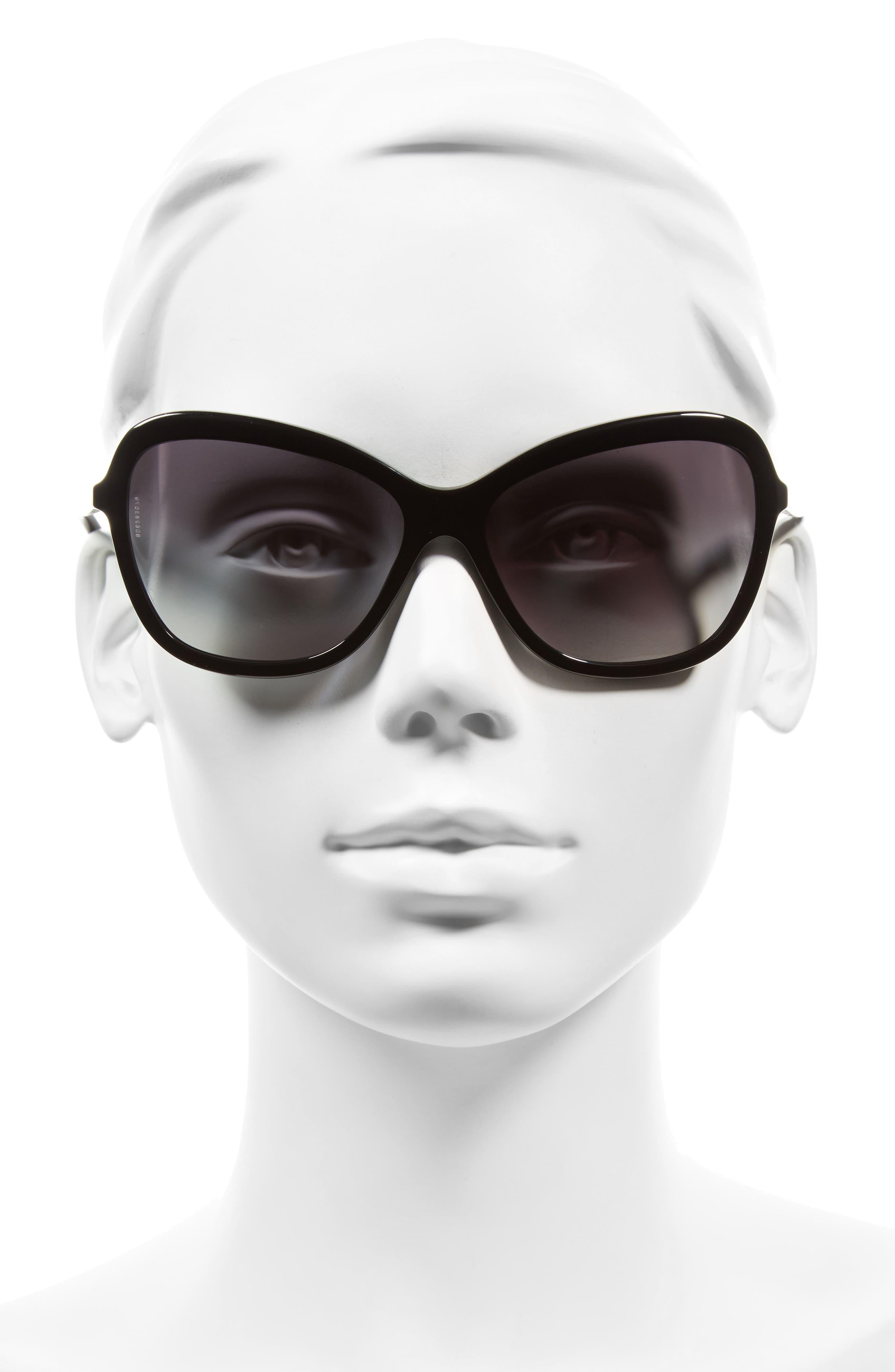 Alternate Image 2  - Dolce&Gabbana 59mm Gradient Butterfly Sunglasses