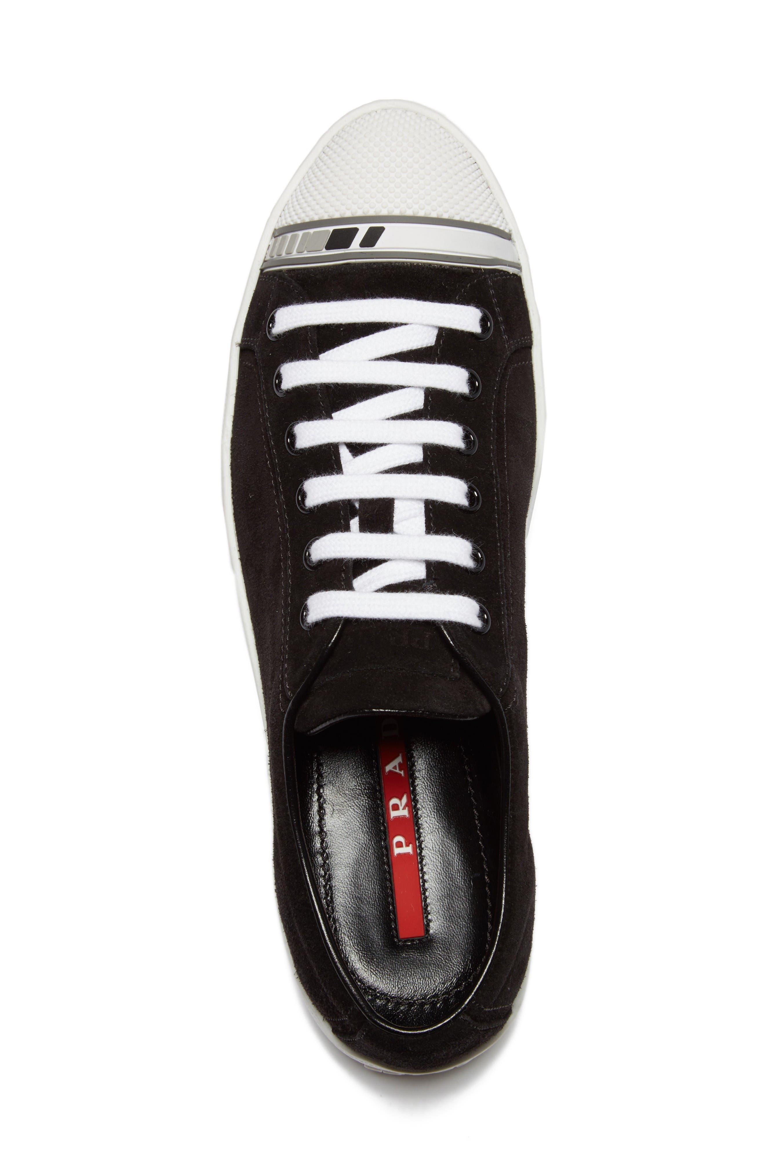 Linea Rossa Logo Platform Sneaker,                             Alternate thumbnail 3, color,                             Black/ White
