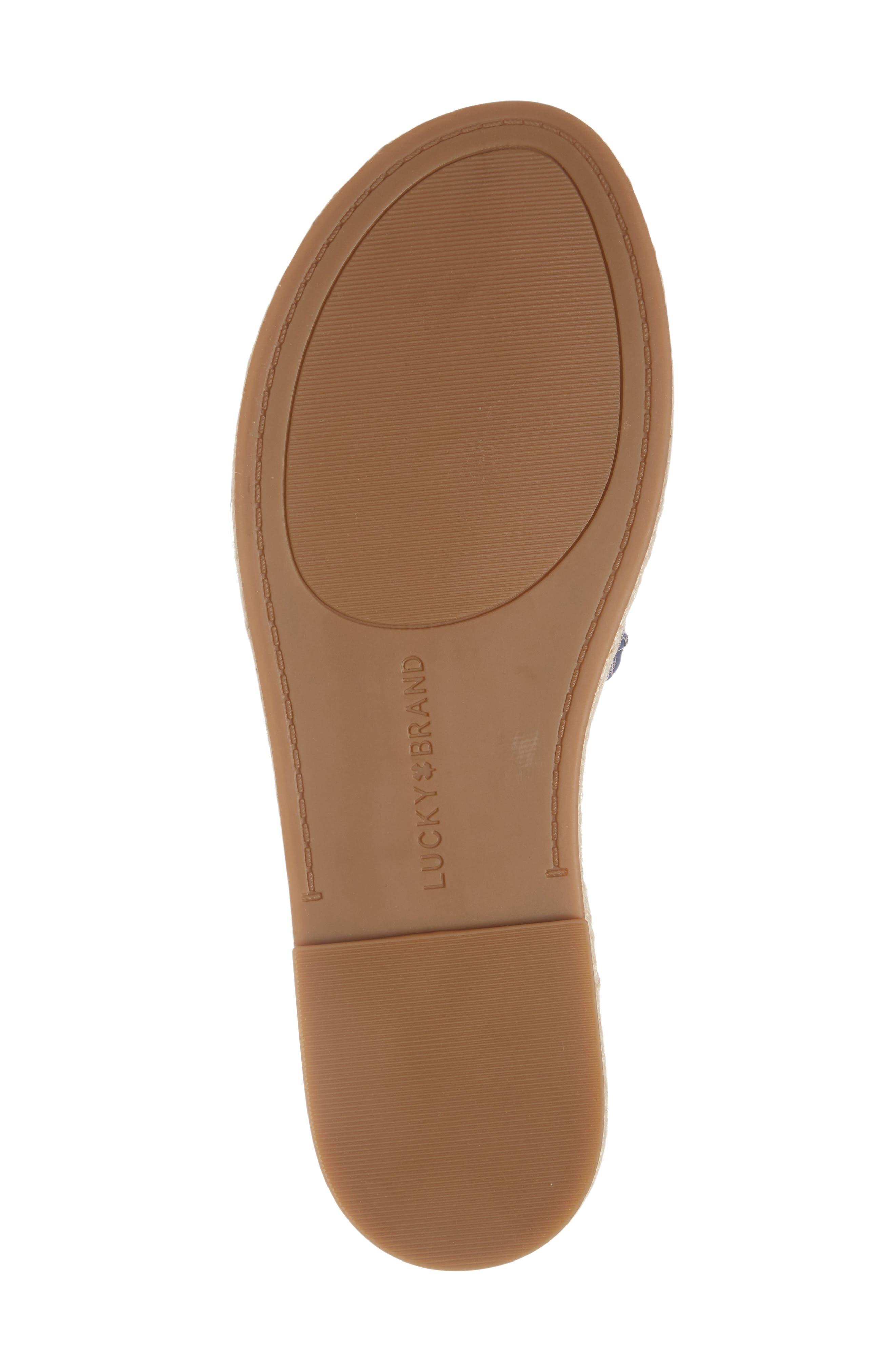 Daytah Ankle Tie Sandal,                             Alternate thumbnail 5, color,                             Dark Chambray
