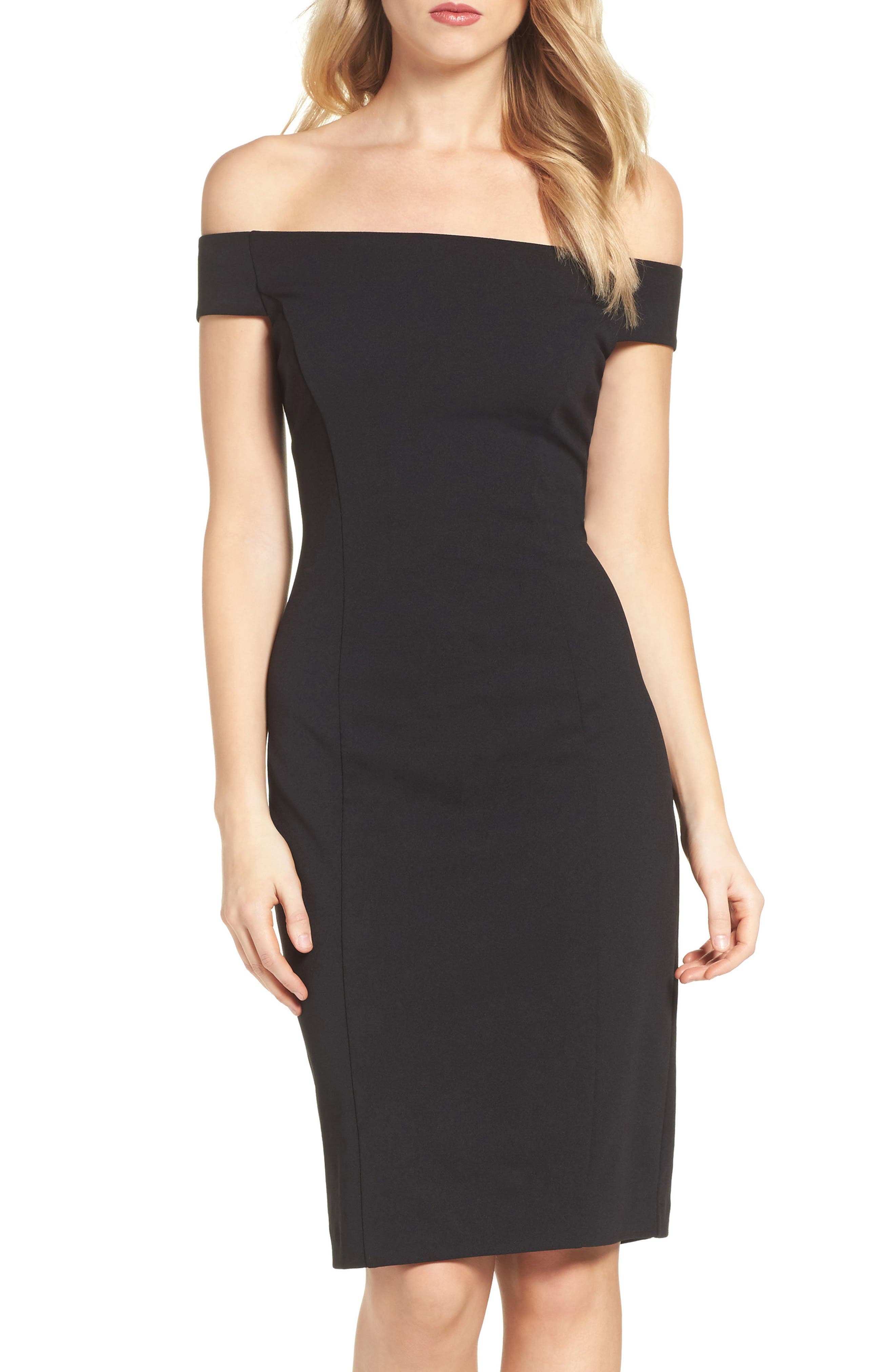 Alternate Image 1 Selected - Vince Camuto Crepe Sheath Dress (Regular & Petite)