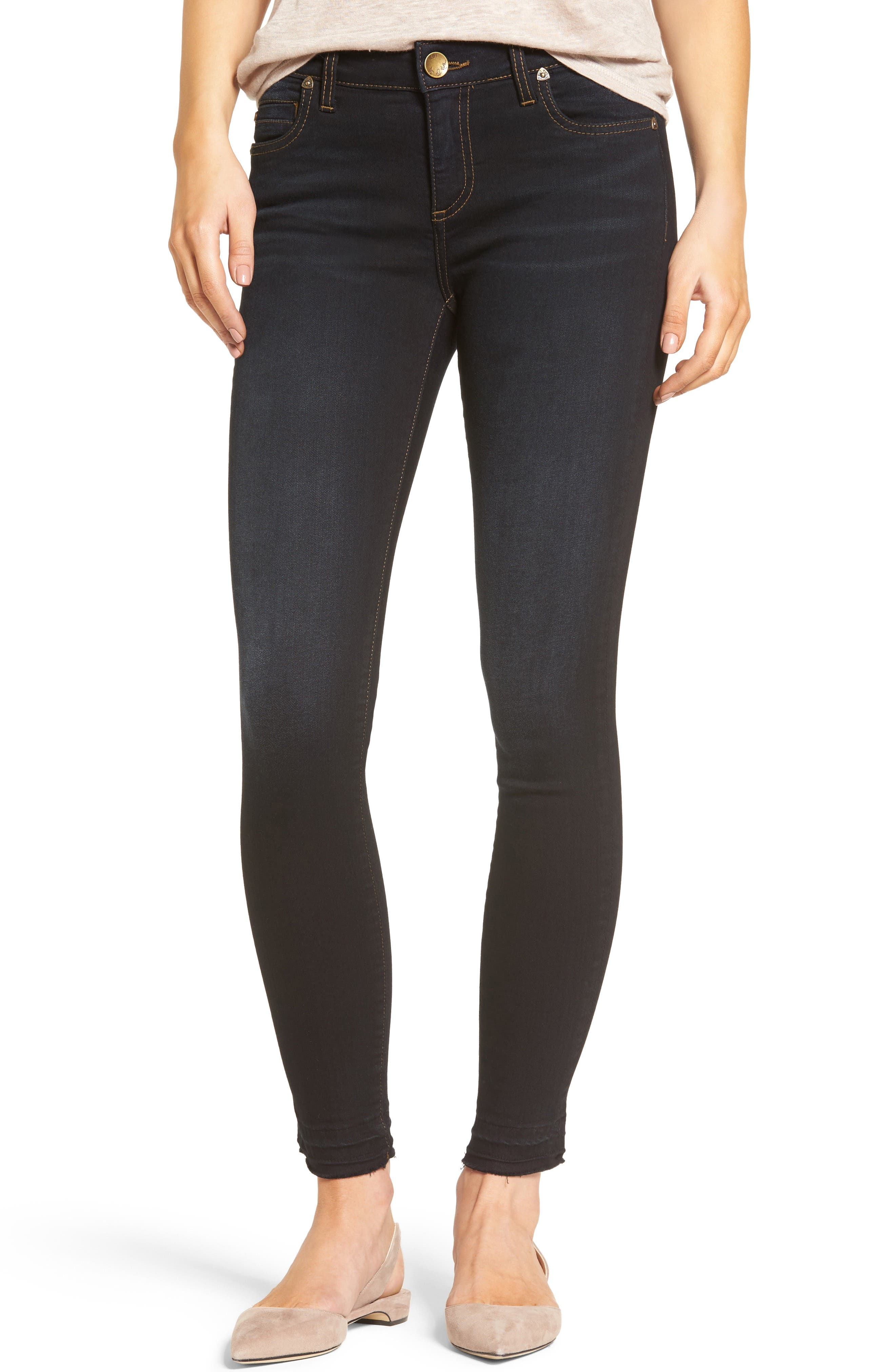 KUT from the Kloth Connie Release Hem Skinny Jeans (Provacative) (Regular & Petite)