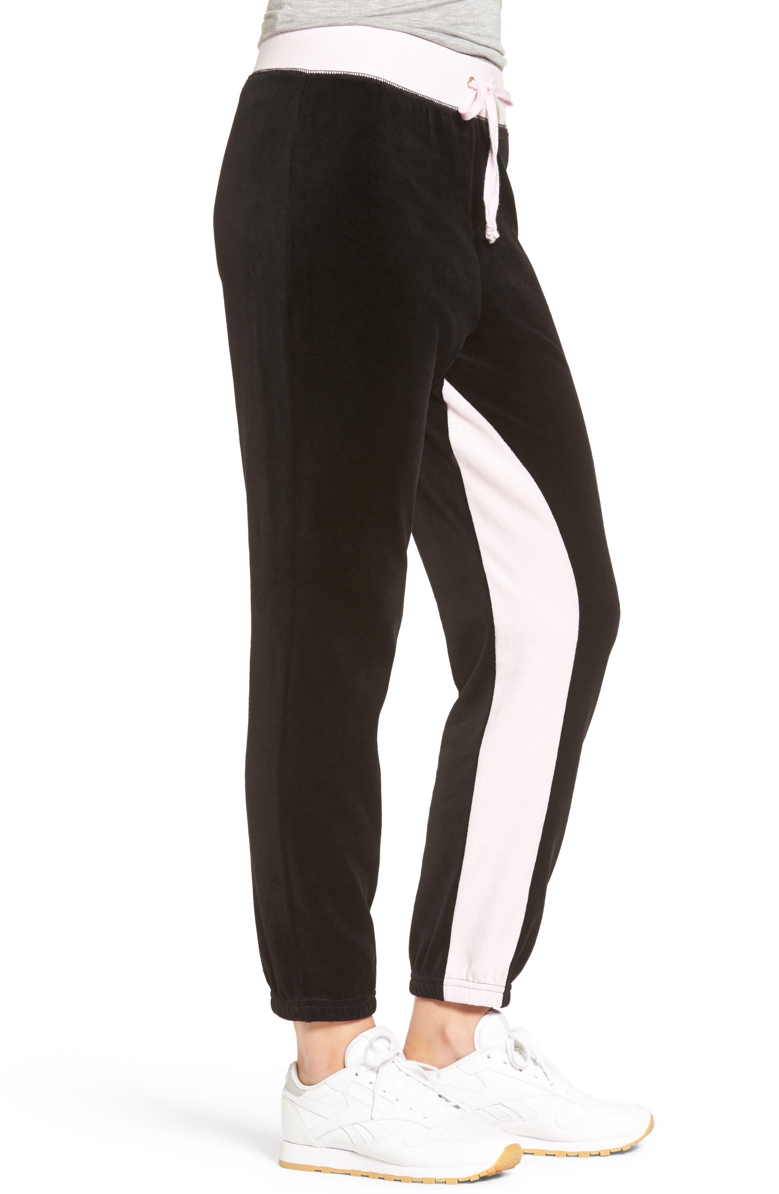 Alternate Image 3  - Juicy Couture Silverlake Colorblock Velour Track Pants