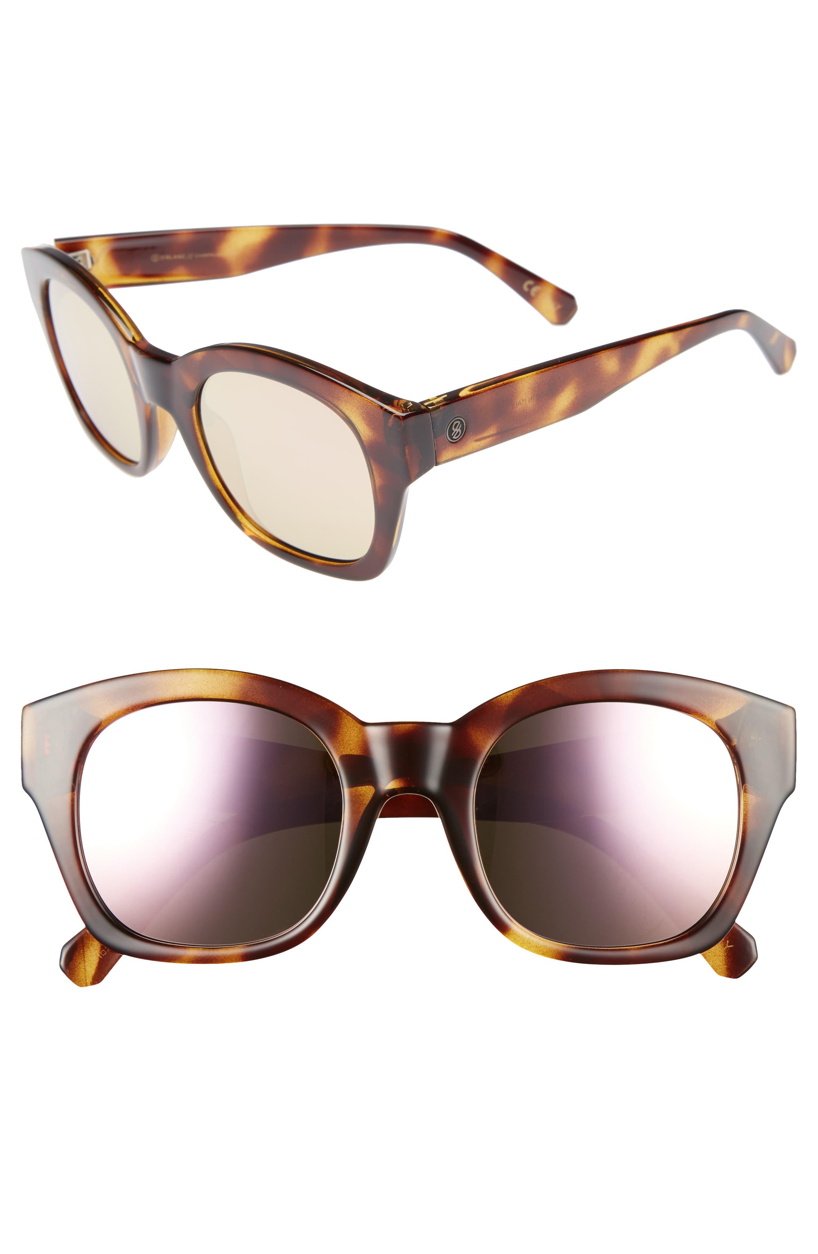 DBLANC DBLANC Champagne Coast 51mm Gradient Square Retro Sunglasses