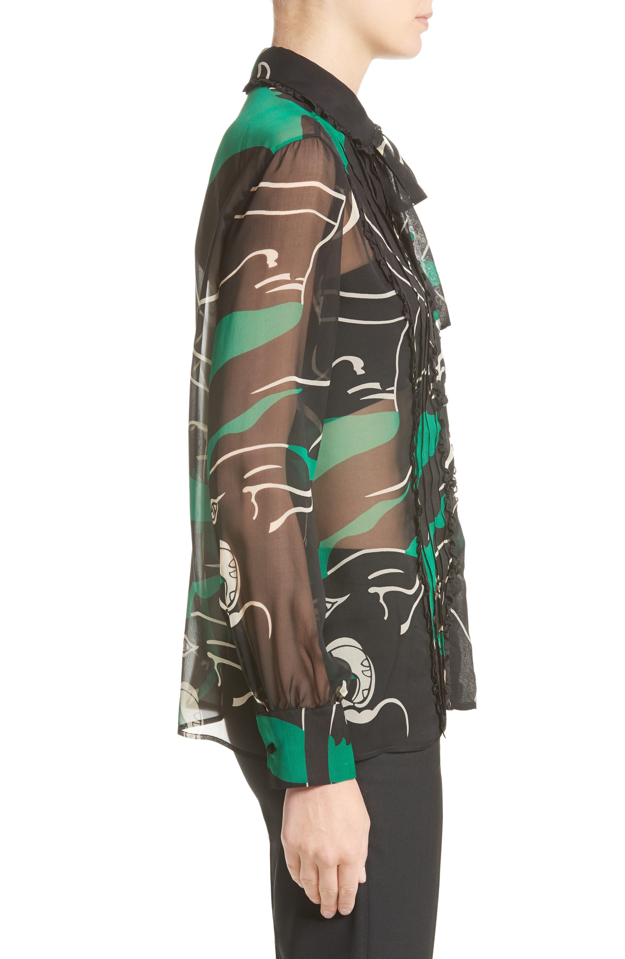 Alternate Image 5  - Valentino Panther Print Silk Chiffon Blouse