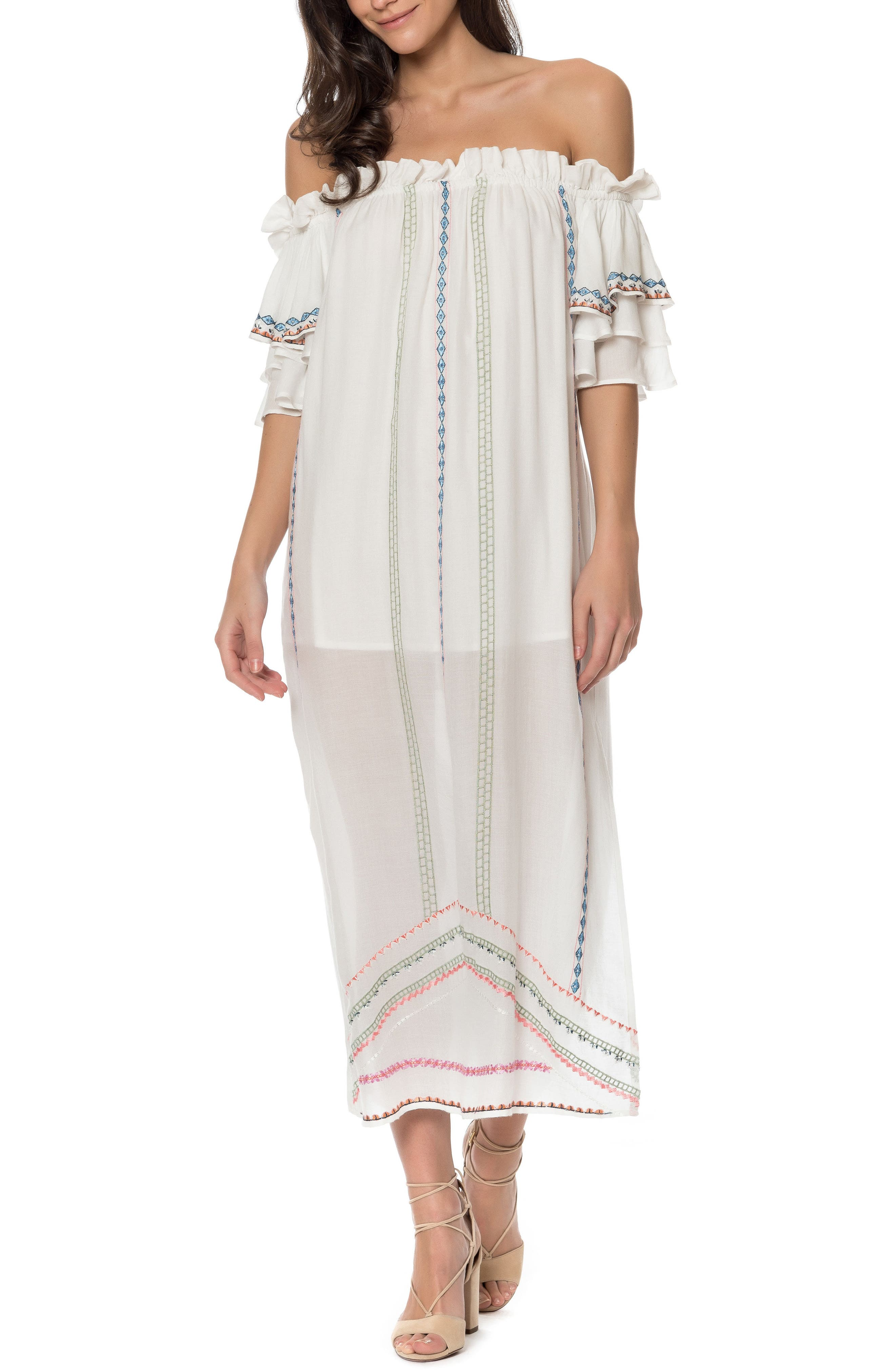 Covo Cover-Up Dress,                         Main,                         color, Ivory Multi