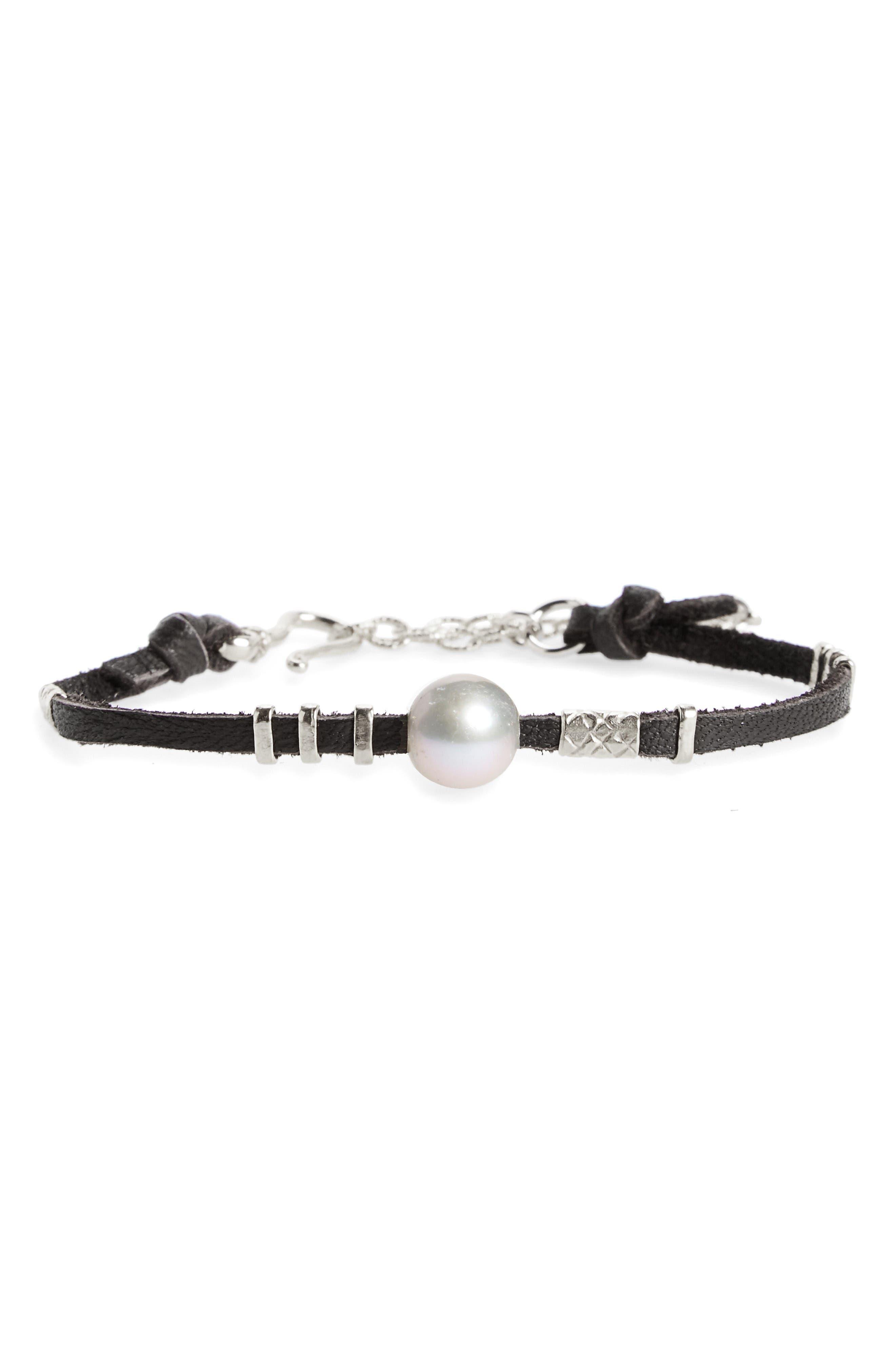 Chan Luu Pearl & Leather Bracelet