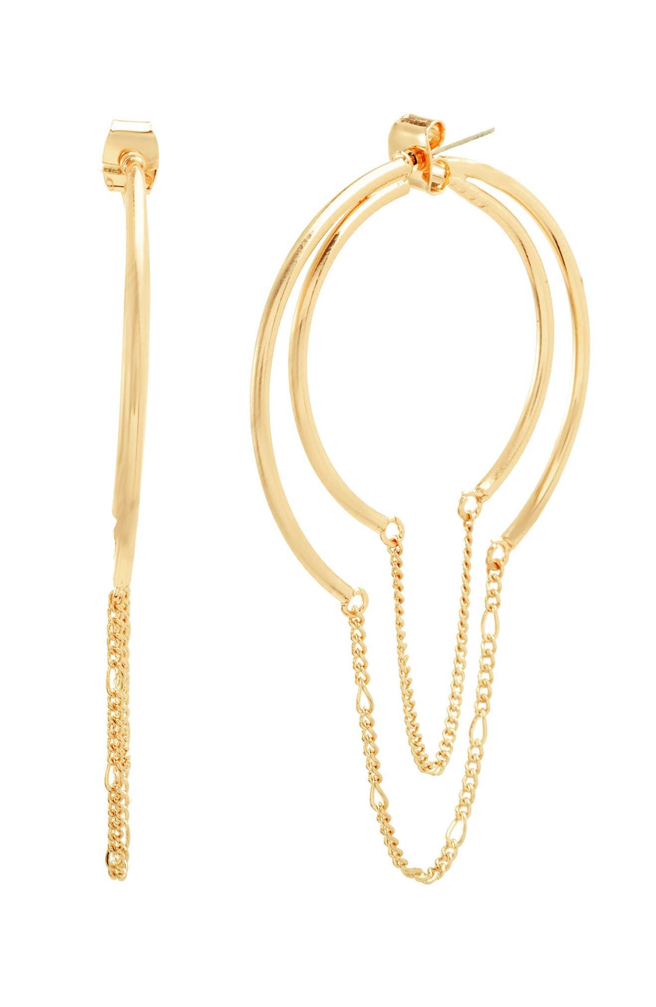 STEVE MADDEN Chain Hoop Earrings