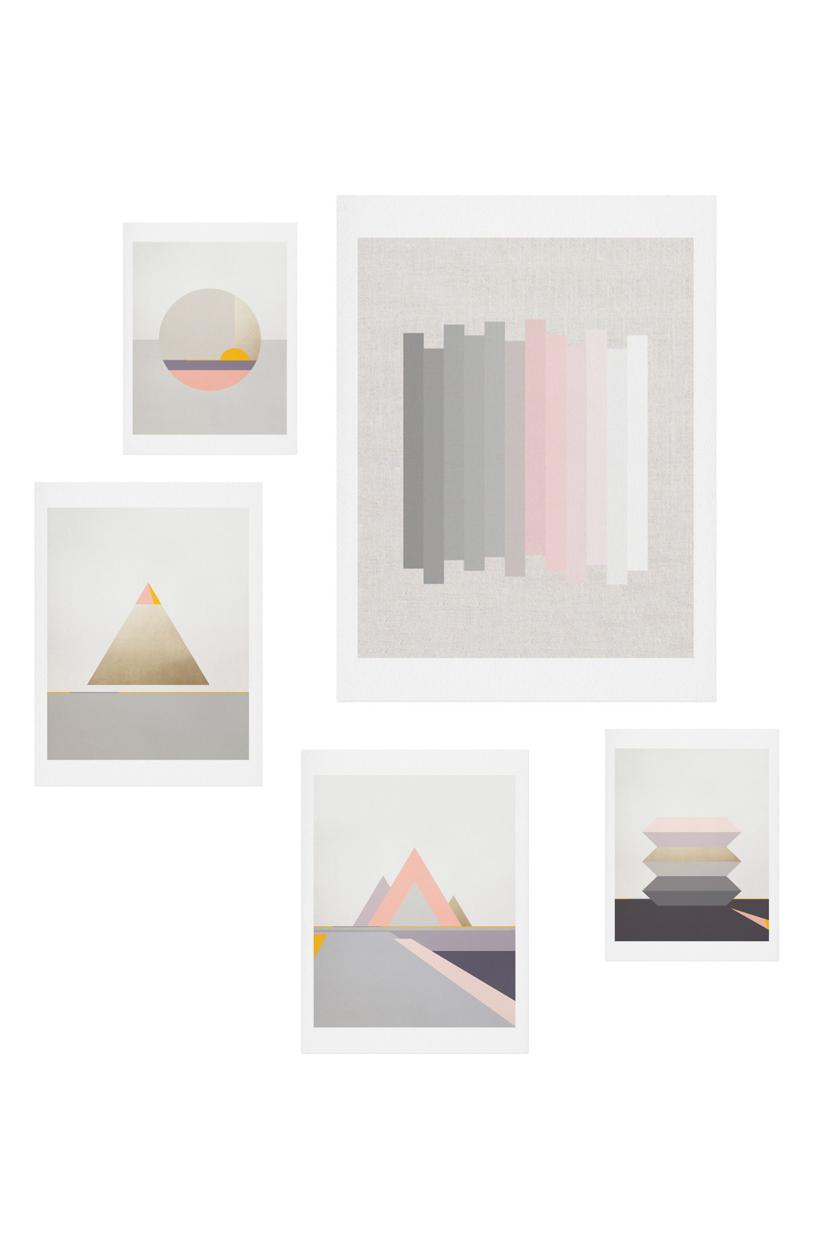 Main Image - Deny Designs Festival 5-Piece Wall Art Print Set