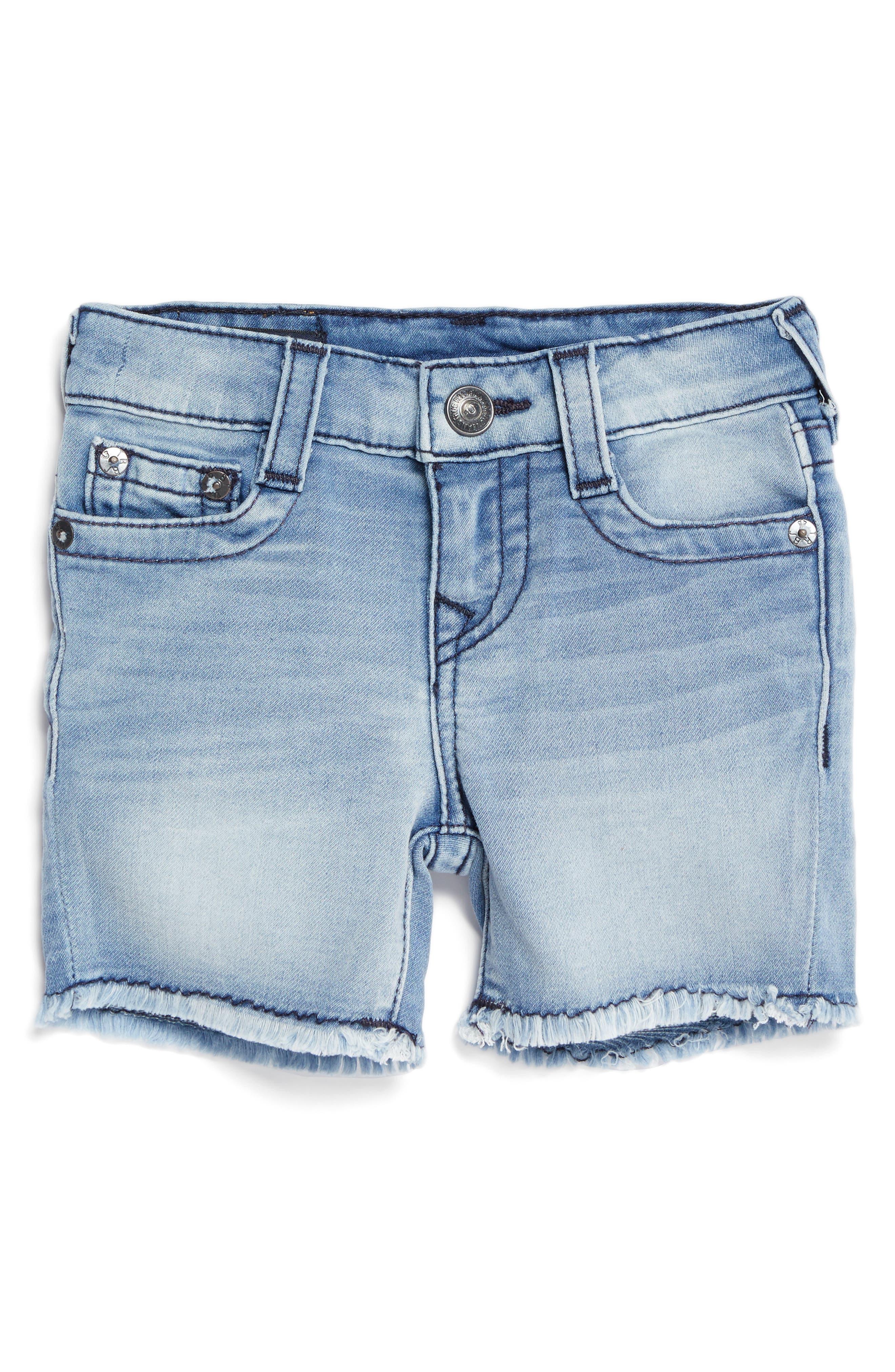 Alternate Image 1 Selected - True Religion Geno Denim Shorts (Baby)