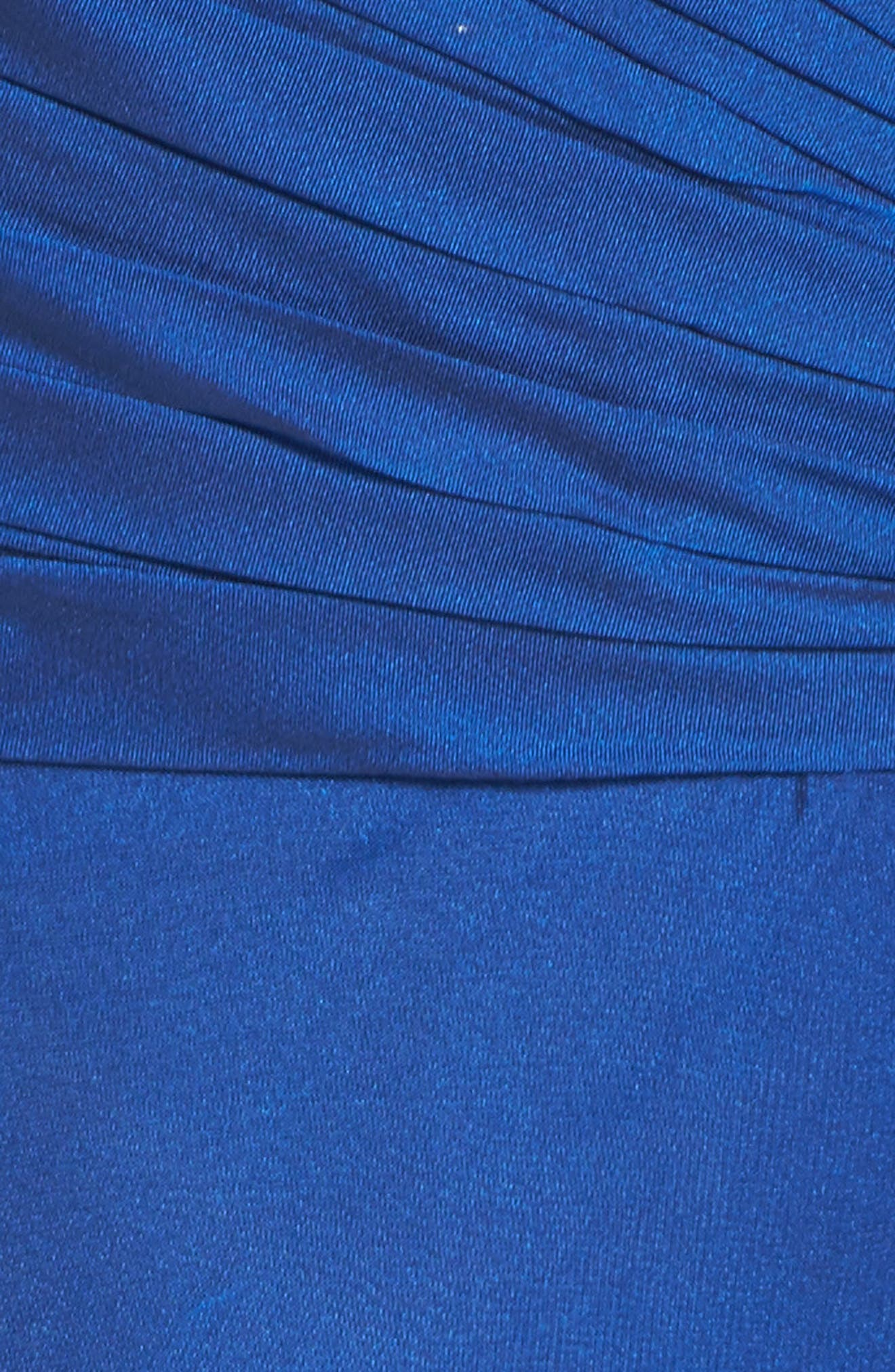 Ruched Chiffon Gown,                             Alternate thumbnail 5, color,                             Marine Blue
