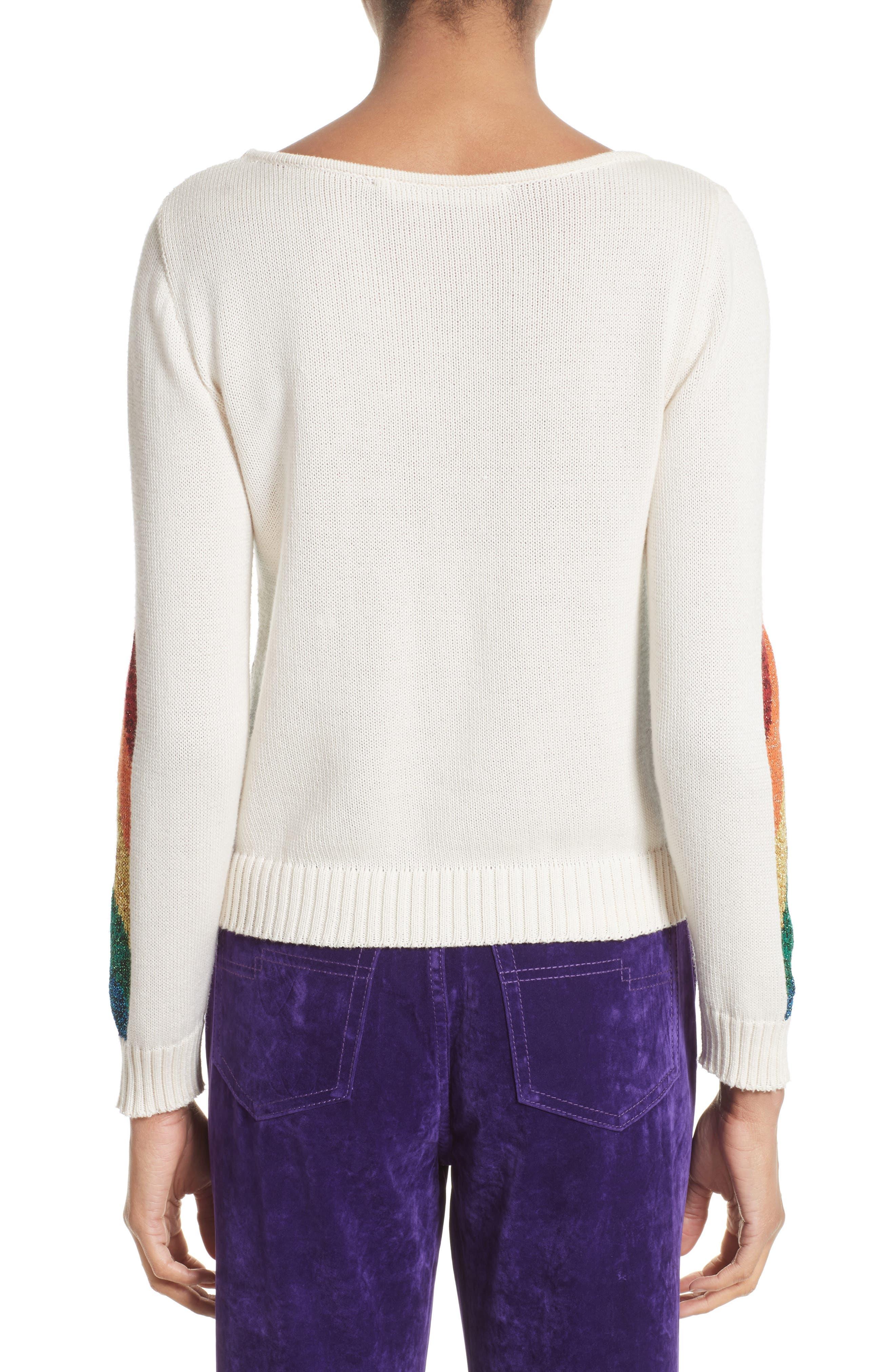 Alternate Image 2  - MARC JACOBS Rainbow Cotton Blend Sweater