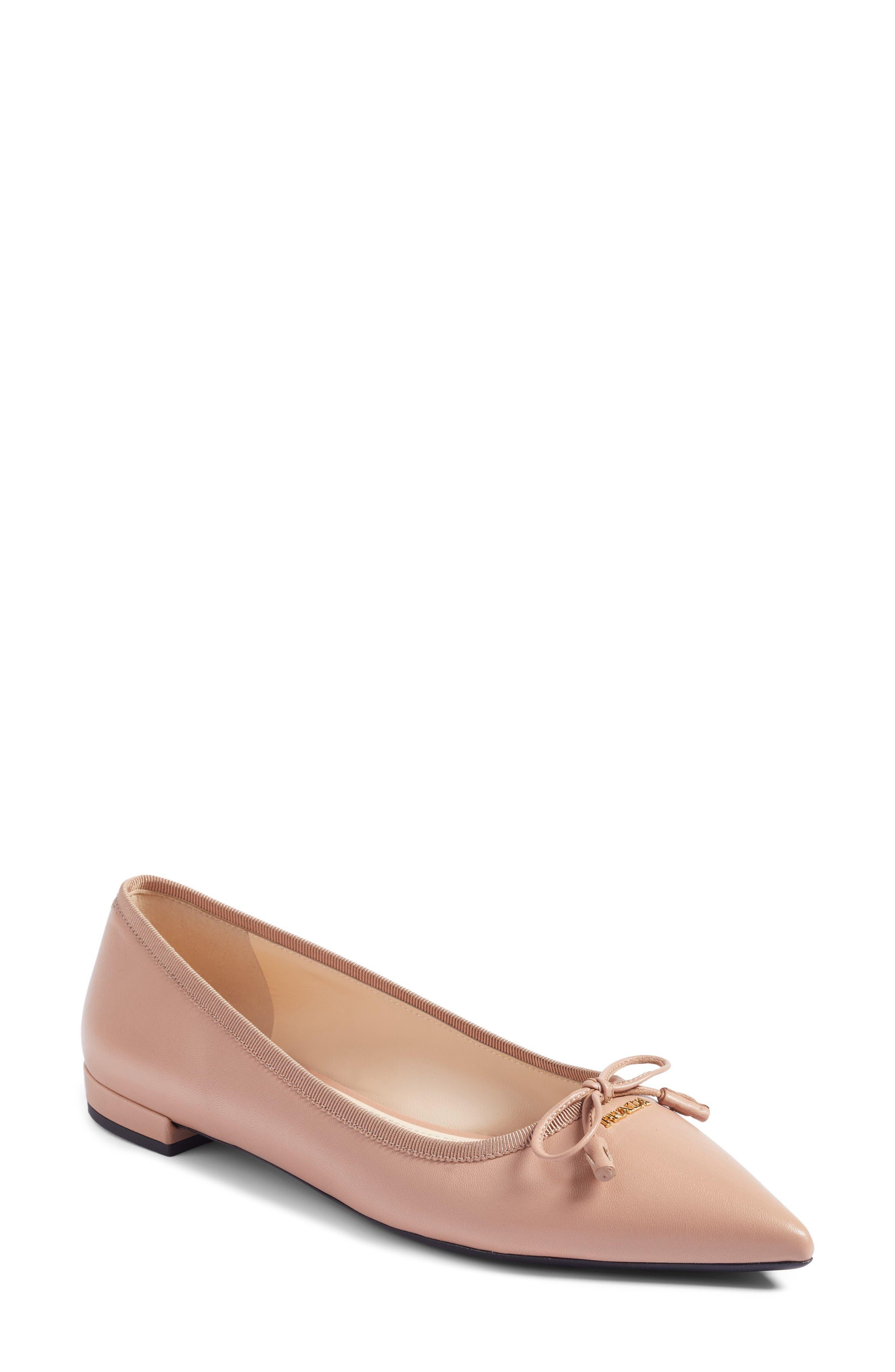 Prada Pointy Toe Flat (Women)