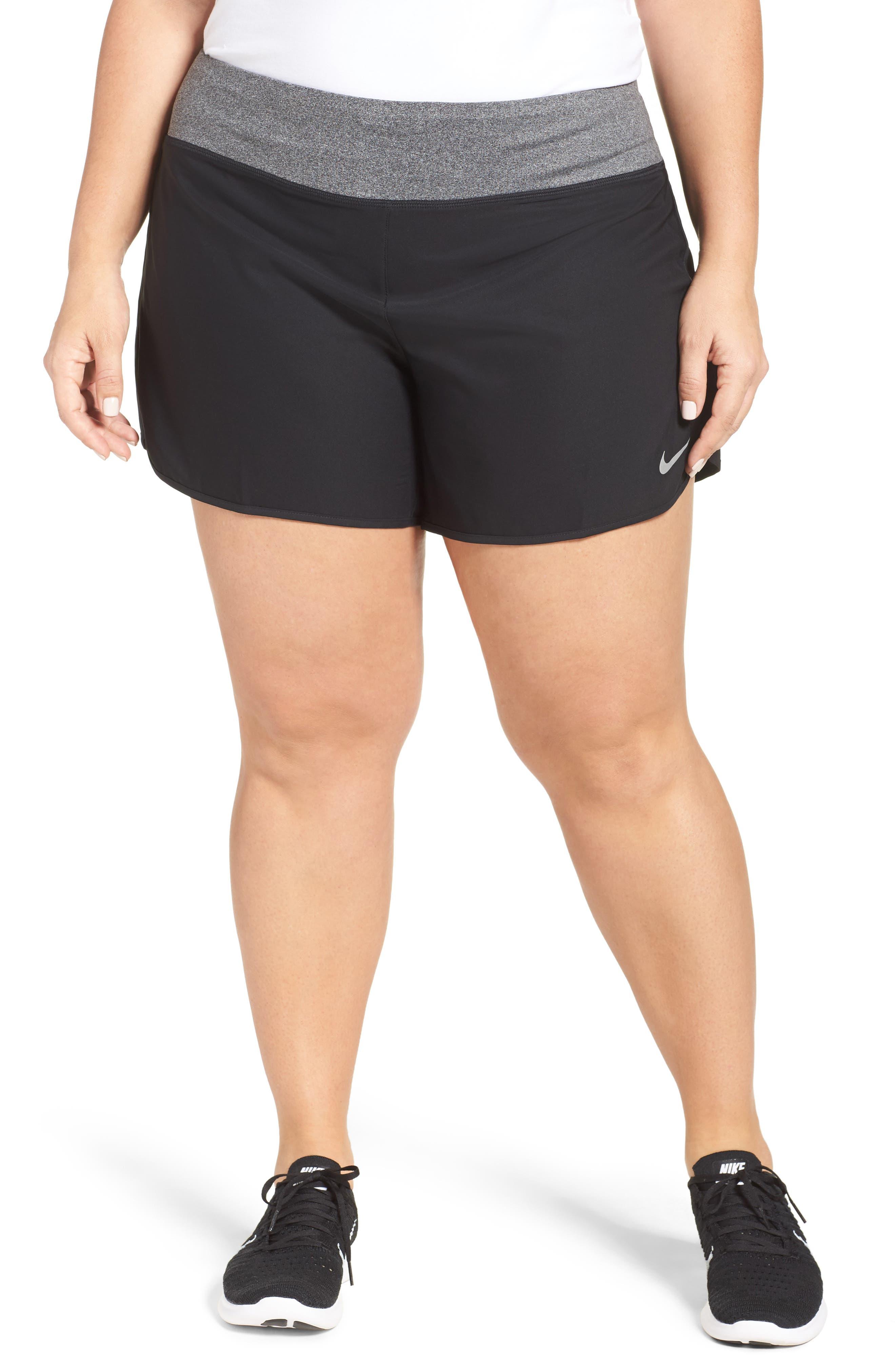 Main Image - Nike Rival Running Shorts (Plus Size)