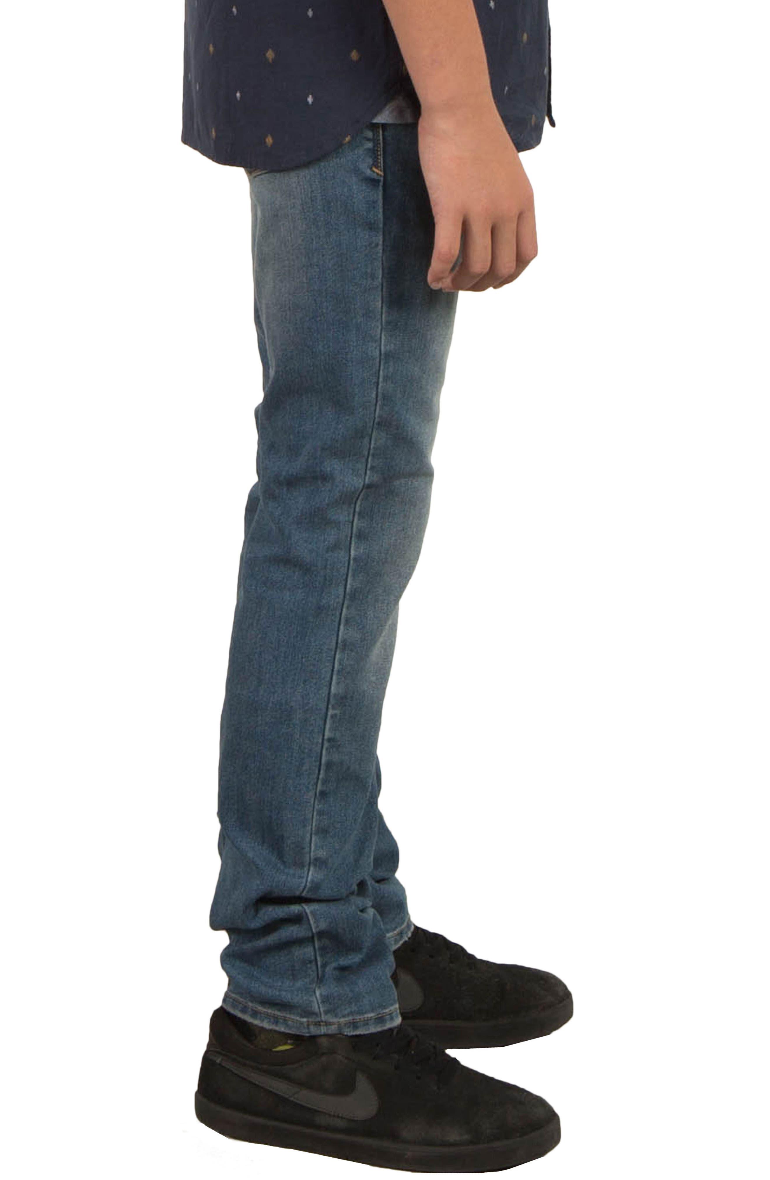 Alternate Image 3  - Volcom Vorta Slim Fit Jeans (Big Boys)