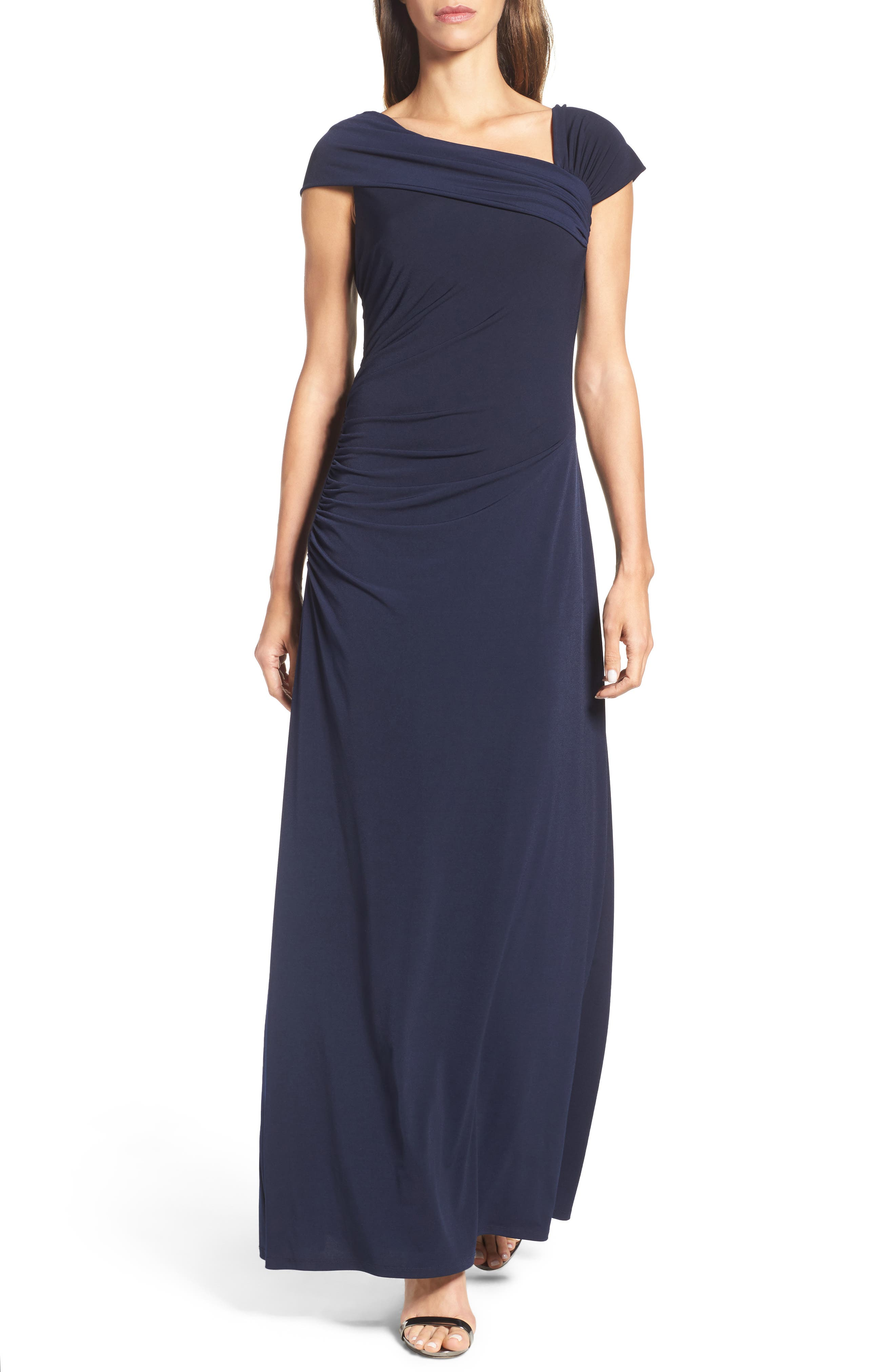 Jersey Gown,                             Main thumbnail 1, color,                             Navy