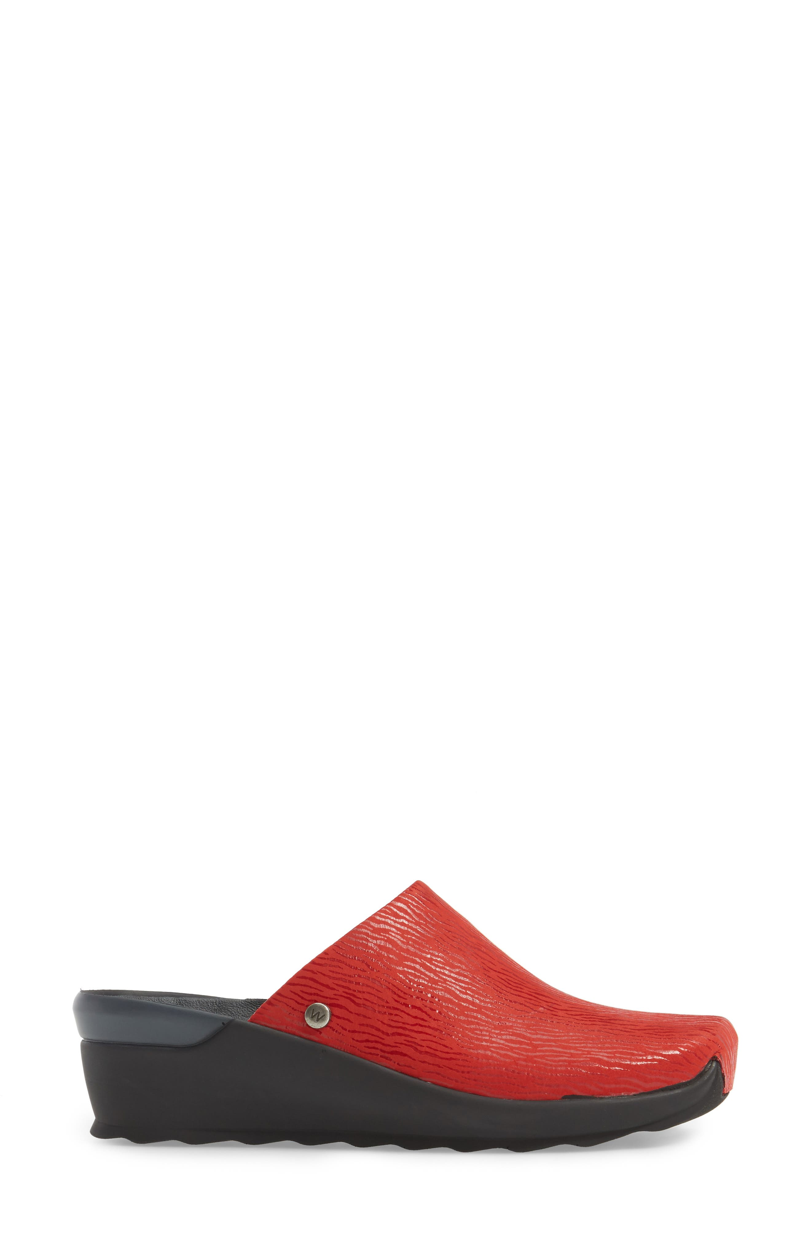 Go Clog,                             Alternate thumbnail 3, color,                             Red Leather