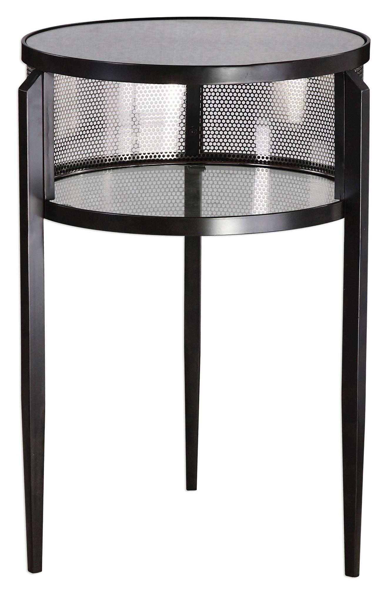 Utttermost Gustav Accent Table,                         Main,                         color, Black