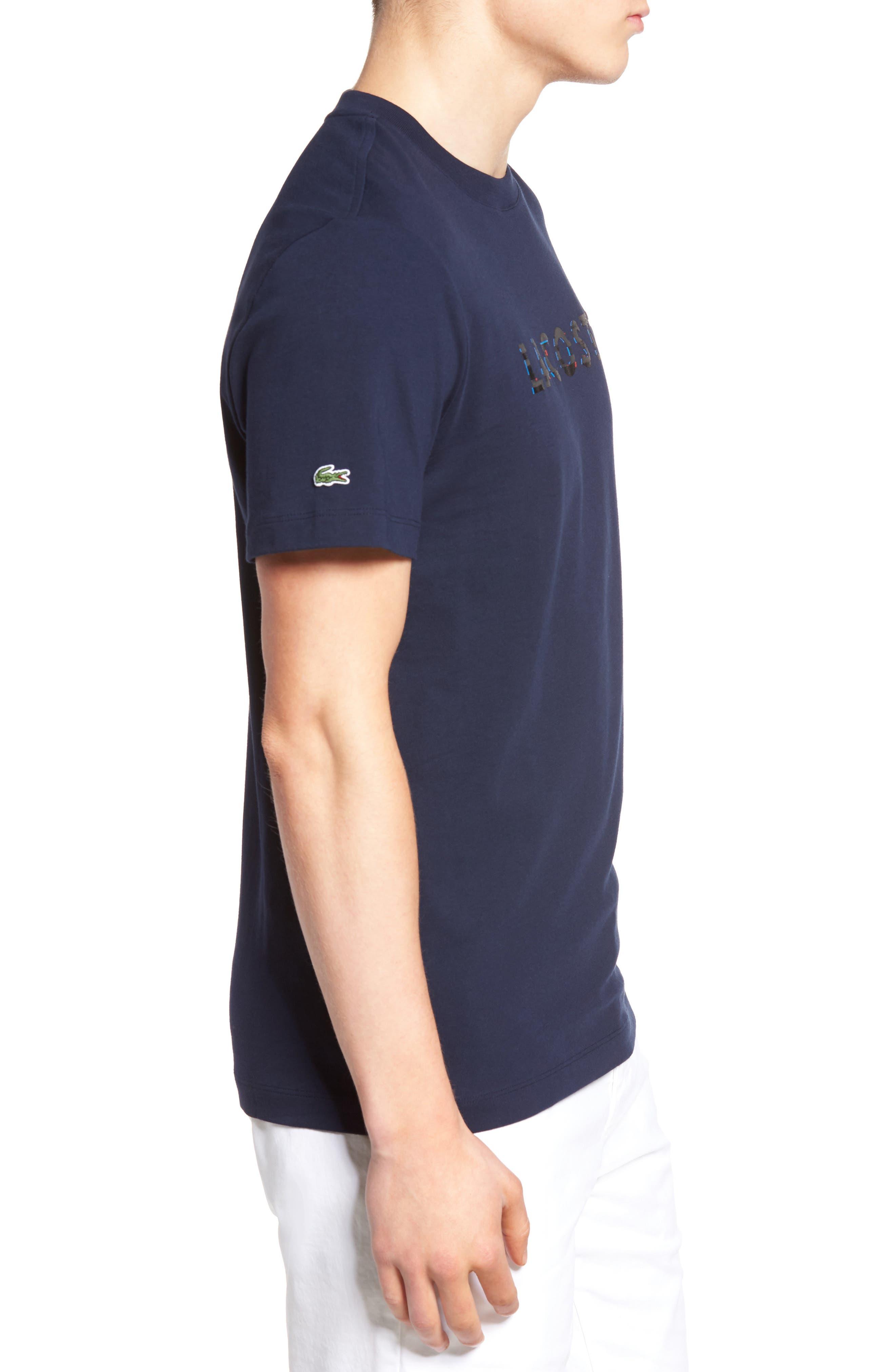Alternate Image 3  - Lacoste 3D Logo Graphic T-Shirt
