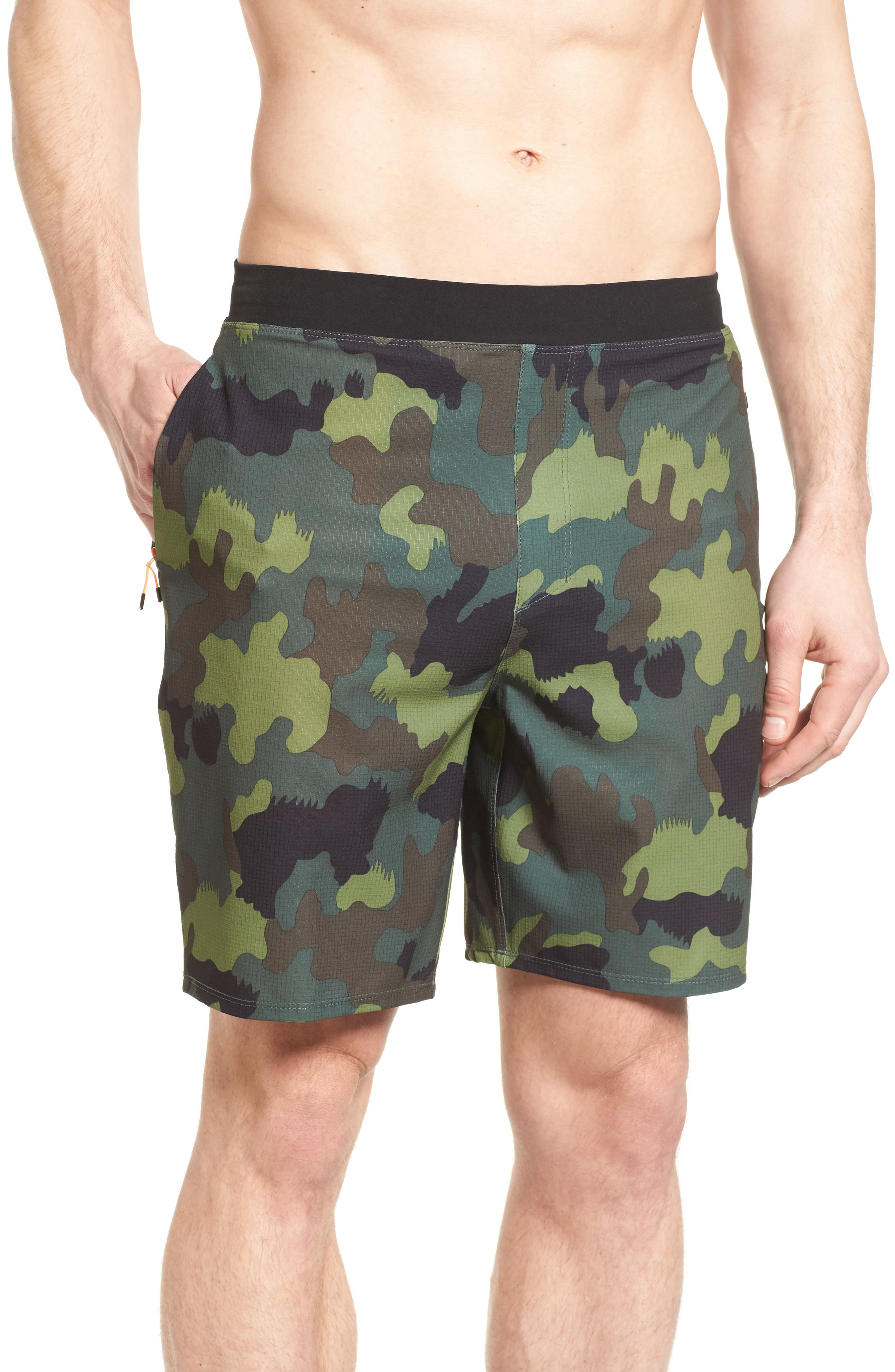 Alpha Trainer Plus Threat Training Shorts,                             Main thumbnail 1, color,                             Camoflague