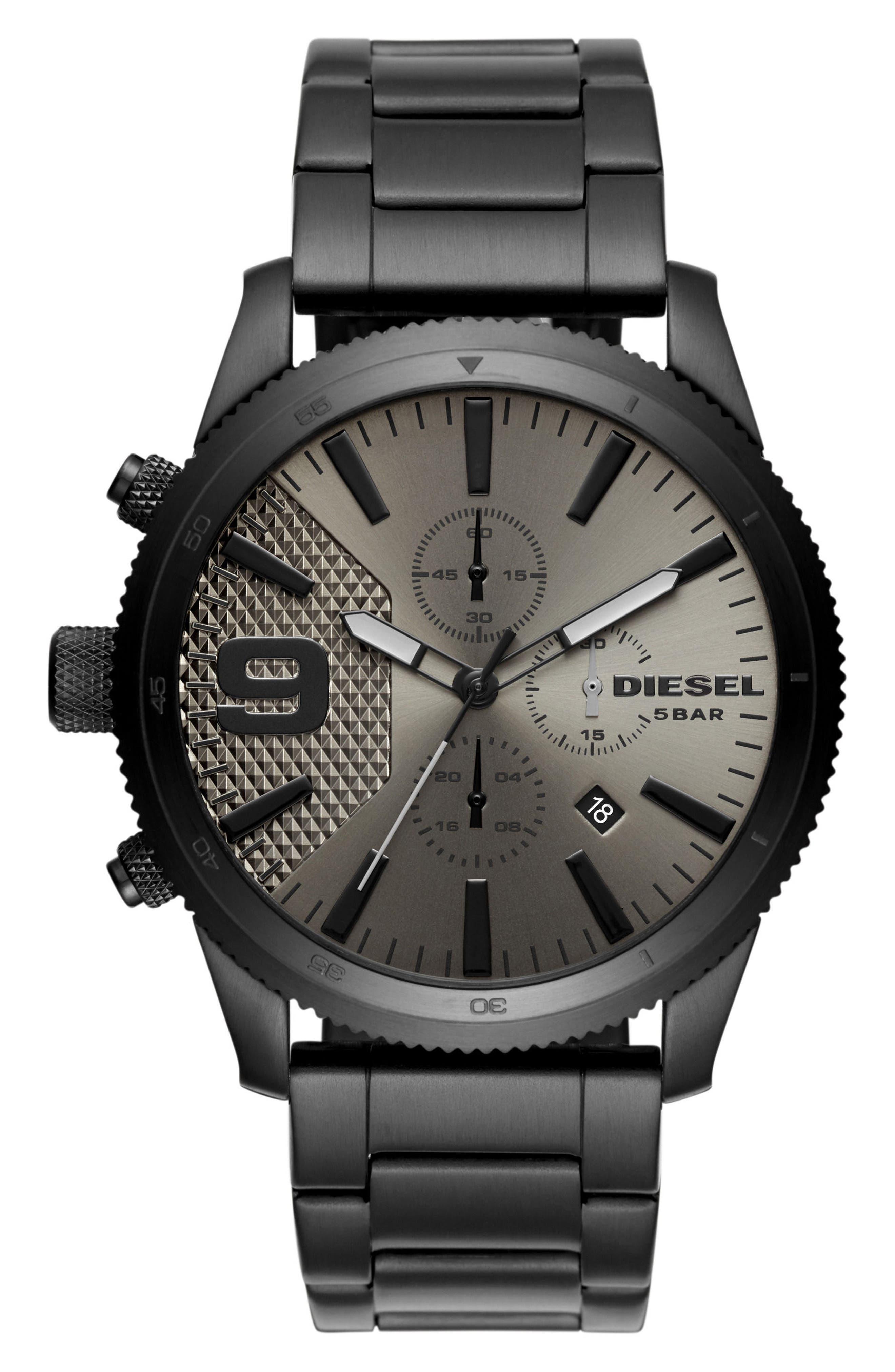 Main Image - DIESEL® Rasp Chronograph Bracelet Watch, 46mm