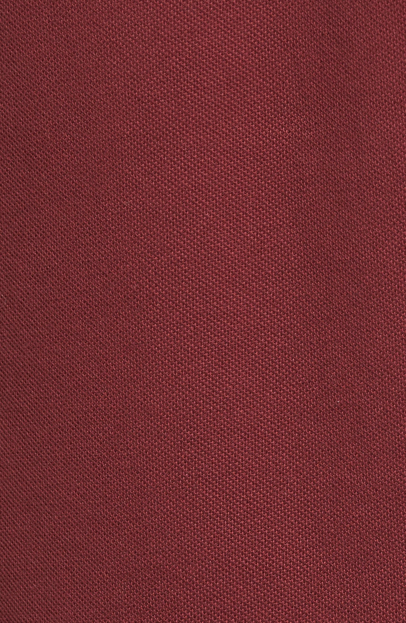 Taped Zip Polo,                             Alternate thumbnail 4, color,                             Aubergine