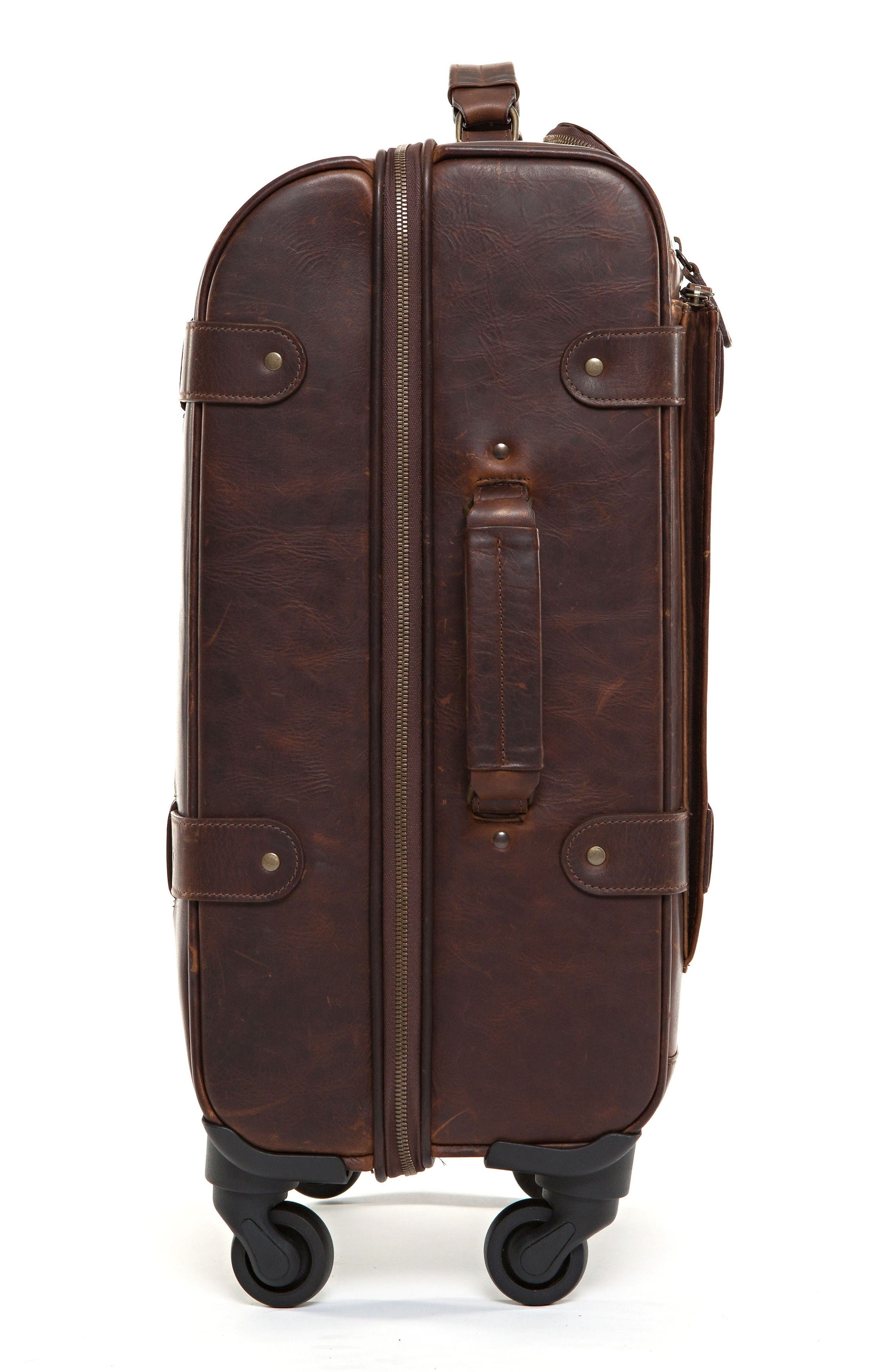 Alternate Image 3  - Moore & Giles Parker Leather Wheeled Suitcase