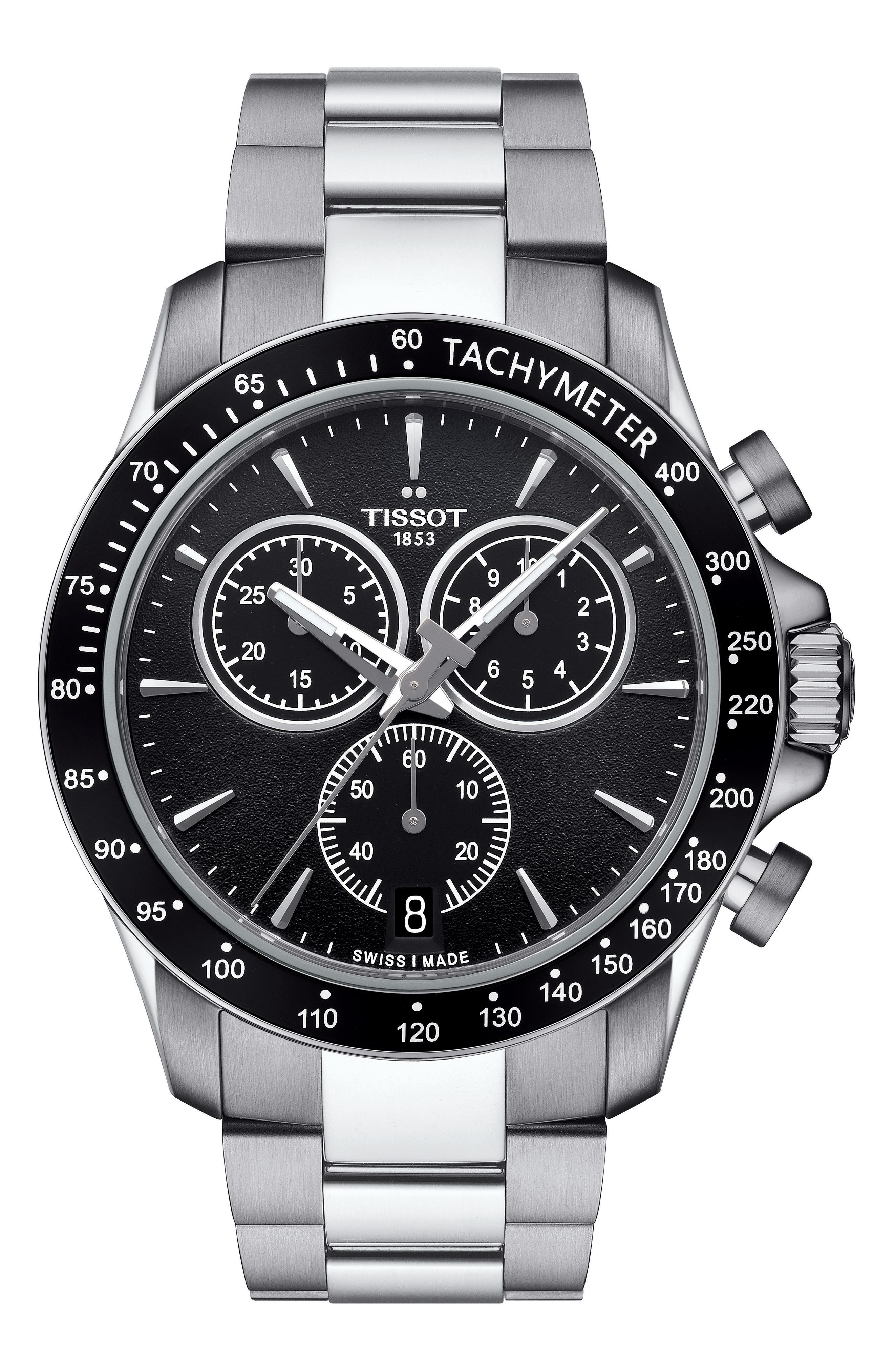 Main Image - Tissot V8 Chronograph Bracelet Watch, 43mm