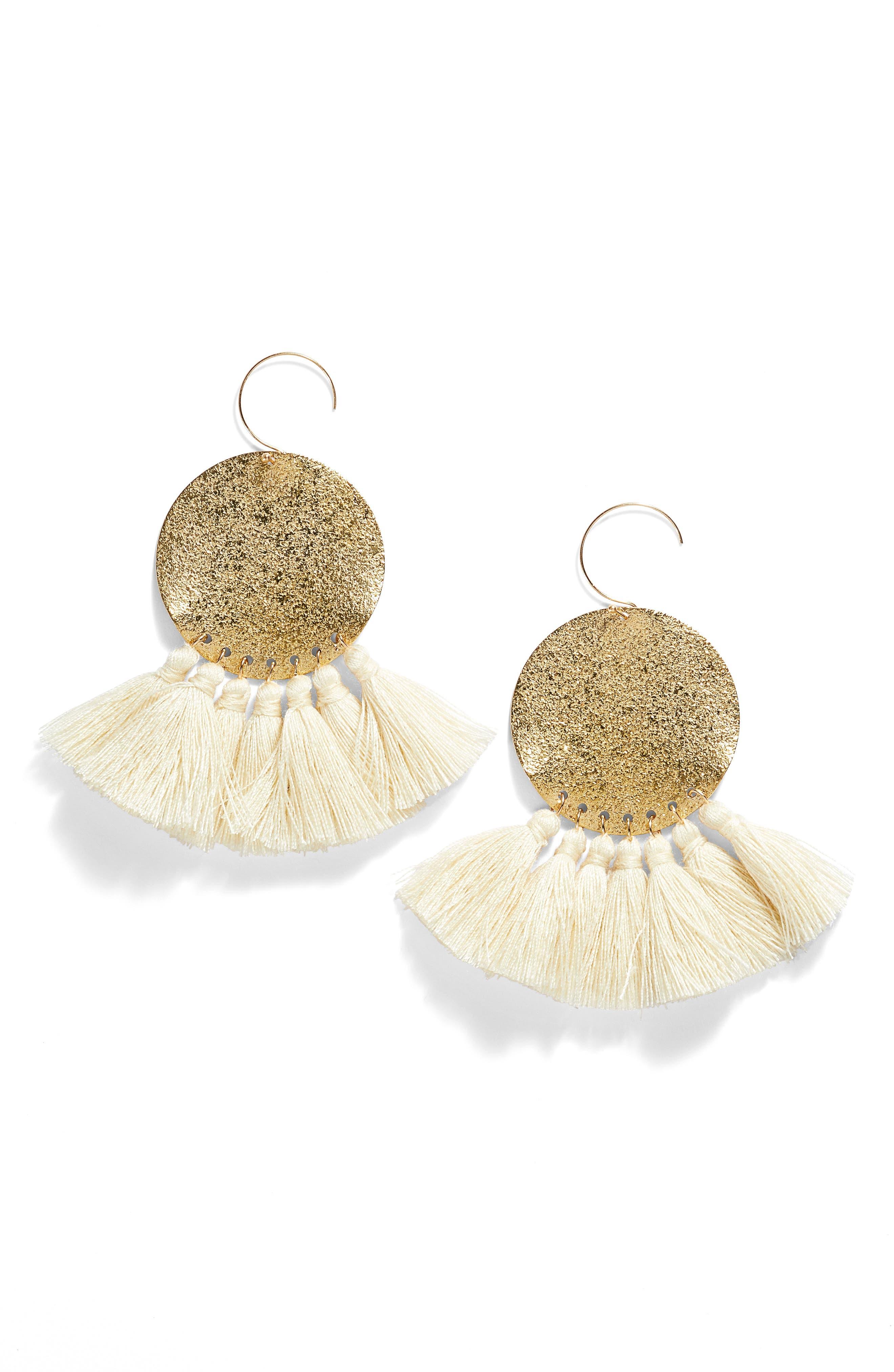 Serefina Lunar Tassel Earrings