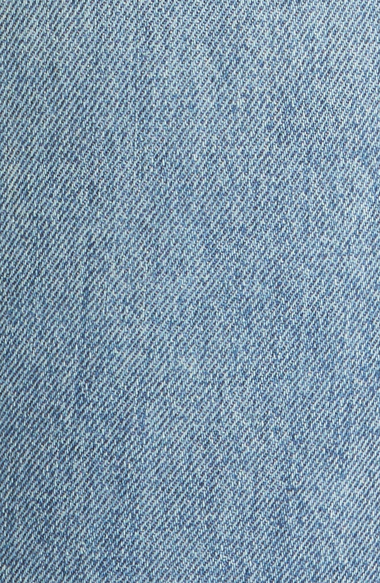 High Waist Vintage Straight Leg Jeans,                             Alternate thumbnail 5, color,                             Medium Wash