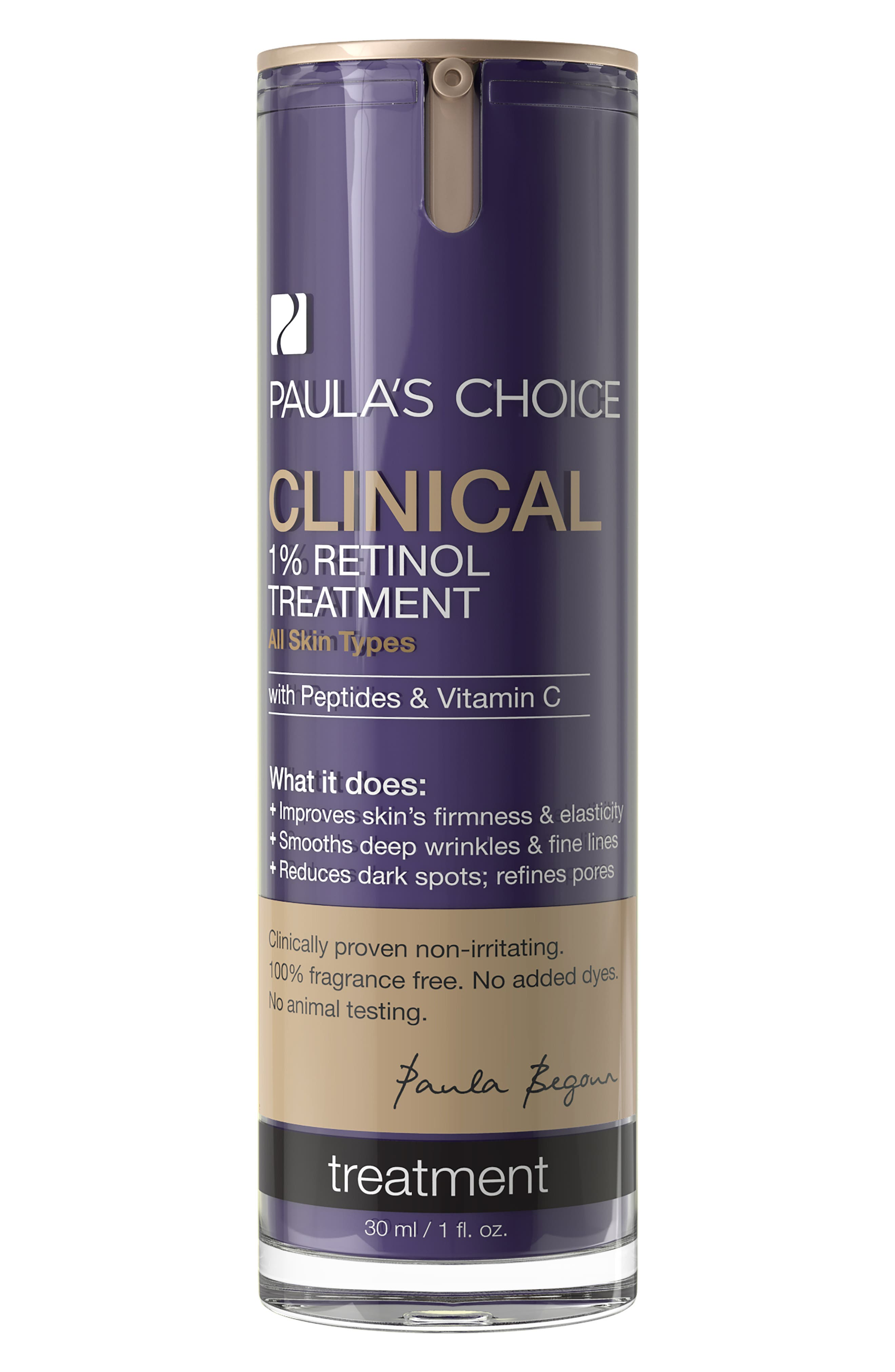 Clinical 1% Retinol Treatment,                             Main thumbnail 1, color,                             No Color