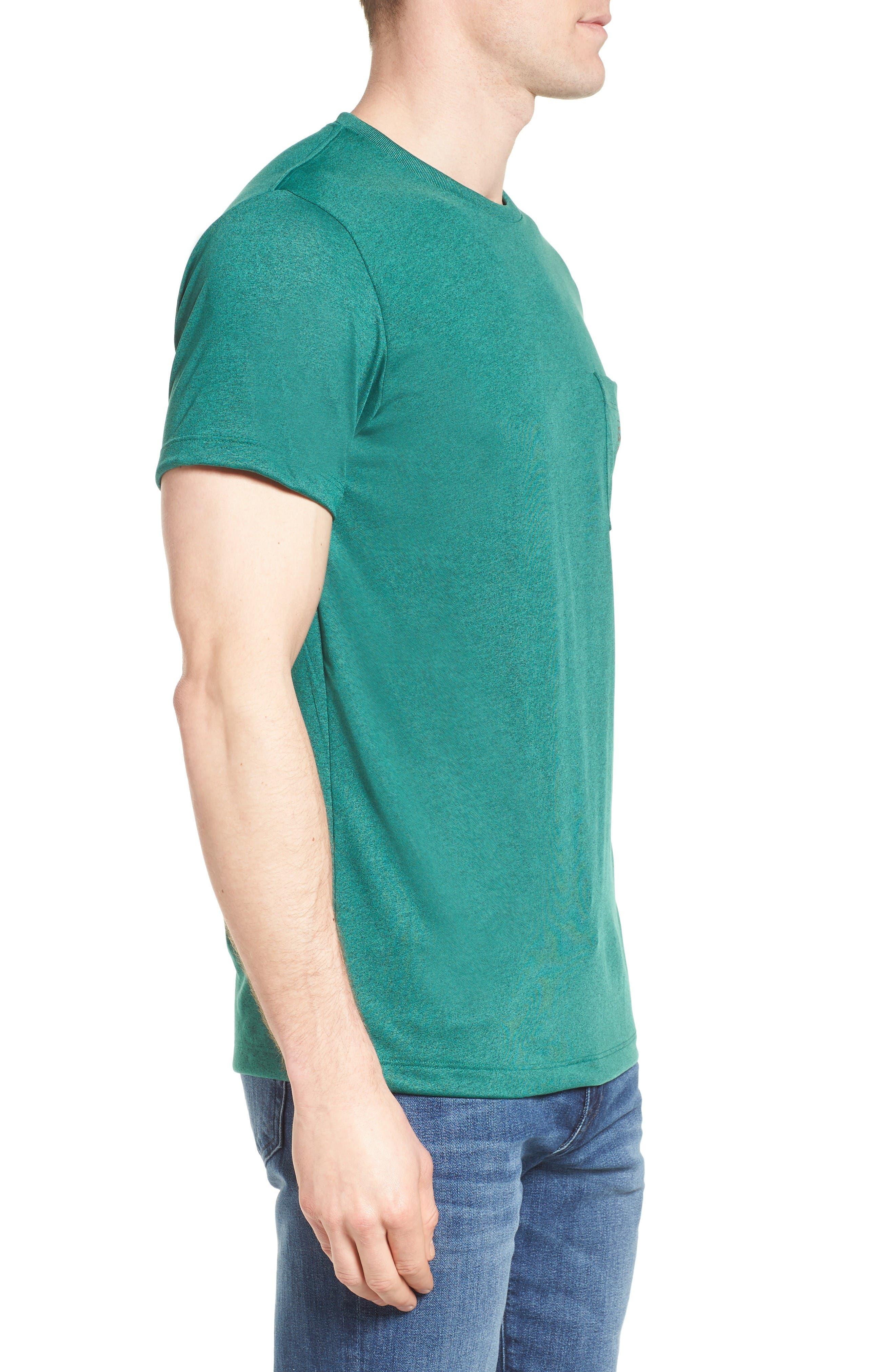 '73 Logo Slim Fit T-Shirt,                             Alternate thumbnail 3, color,                             Gem Green