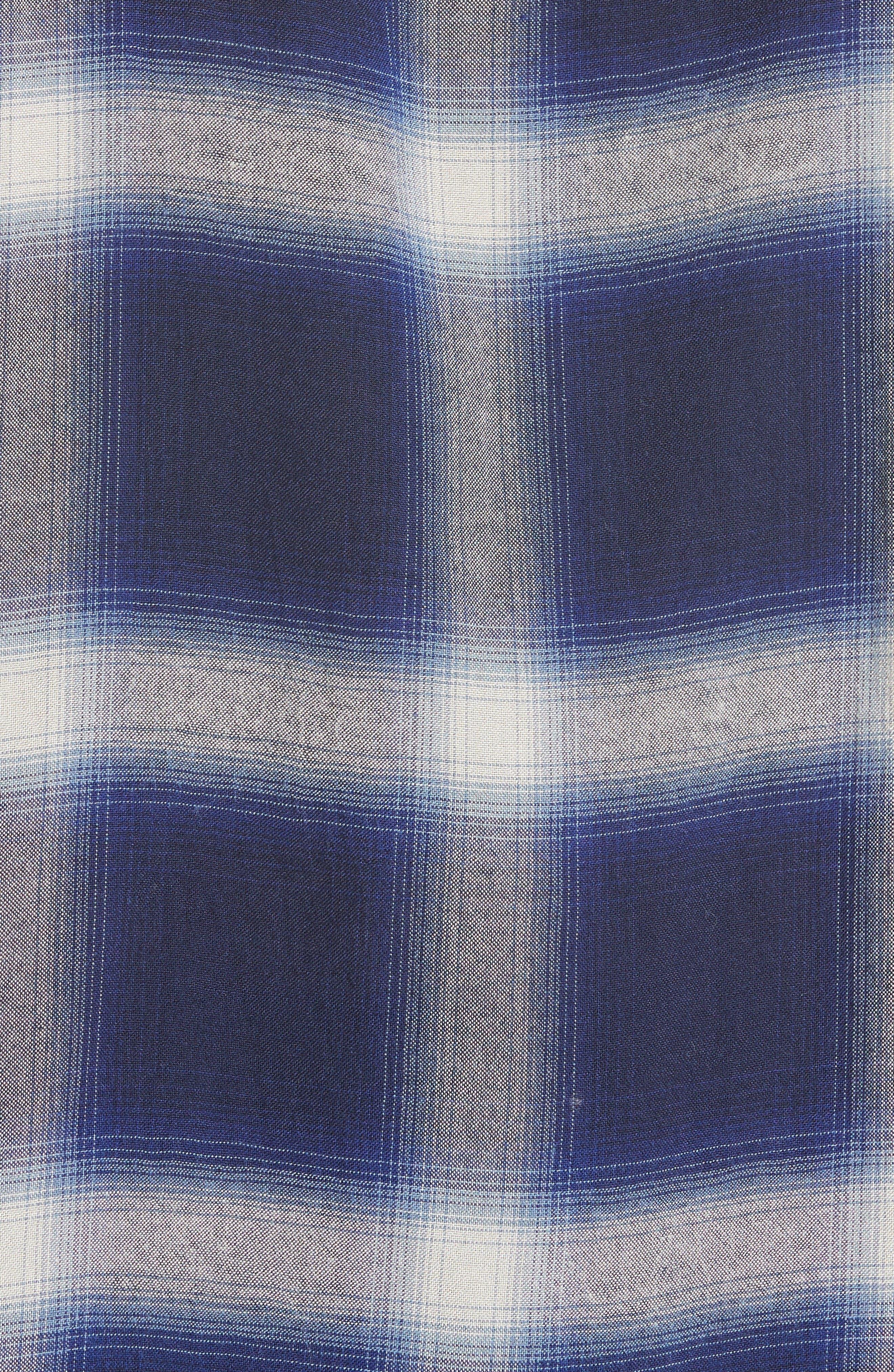 Plaid Utility Shirt,                             Alternate thumbnail 6, color,                             Blue