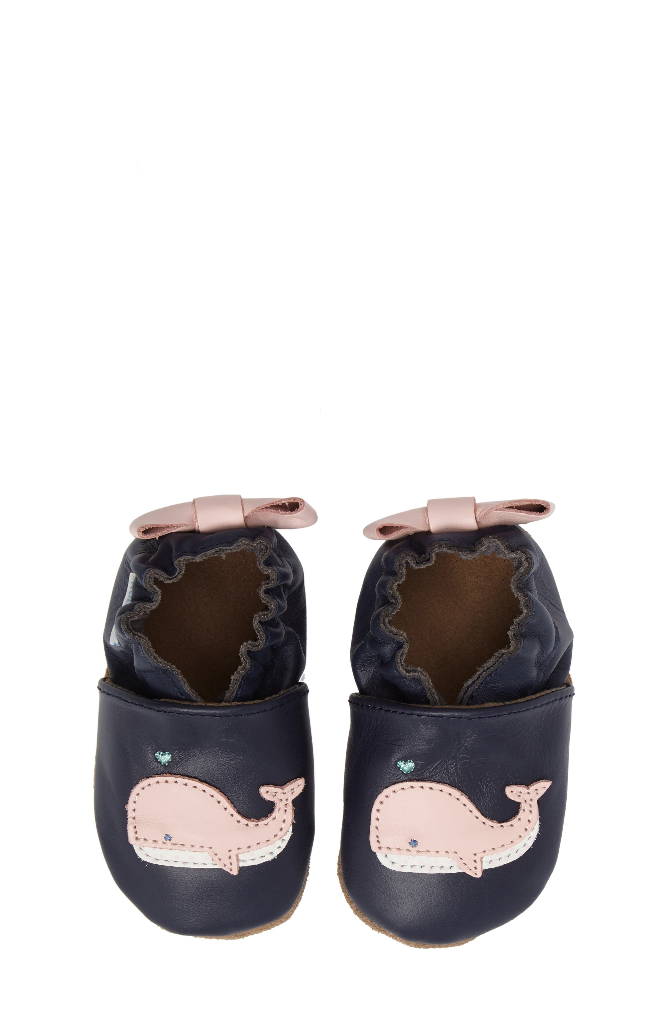 Alternate Image 5  - Robeez® Winnie the Whale Crib Shoe (Baby & Walker)
