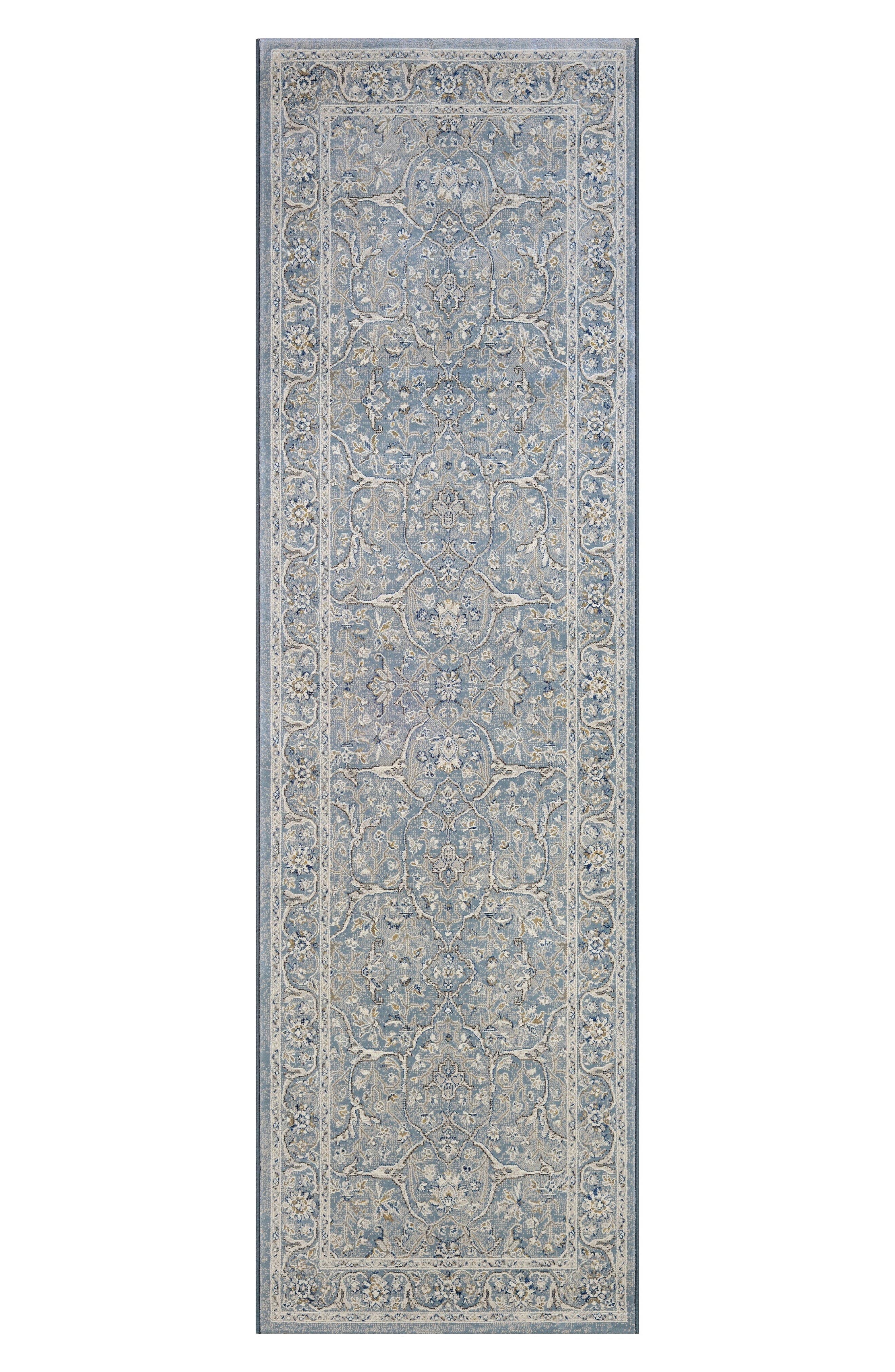 Floral Yazd Indoor/Outdoor Rug,                             Alternate thumbnail 2, color,                             Slate Blue